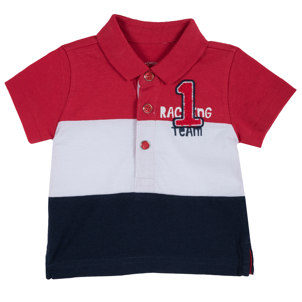 Tricou copii Chicco NR1, maneca scurta, tip Polo, rosu, 33486 din categoria Tricouri copii