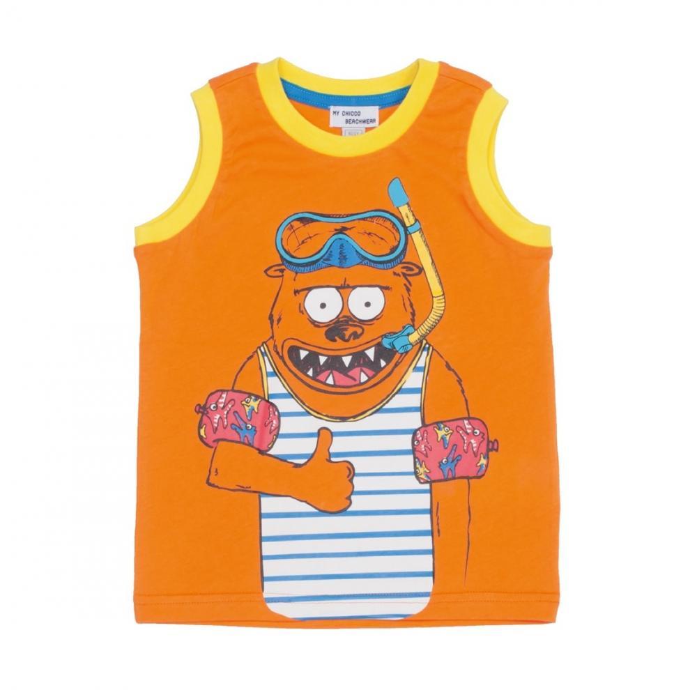 Tricou Chicco, fara maneci, portocaliu, 61719