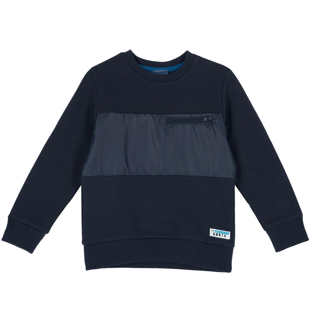 Tricou gros maneca lunga Chicco, bleumarin, 69388