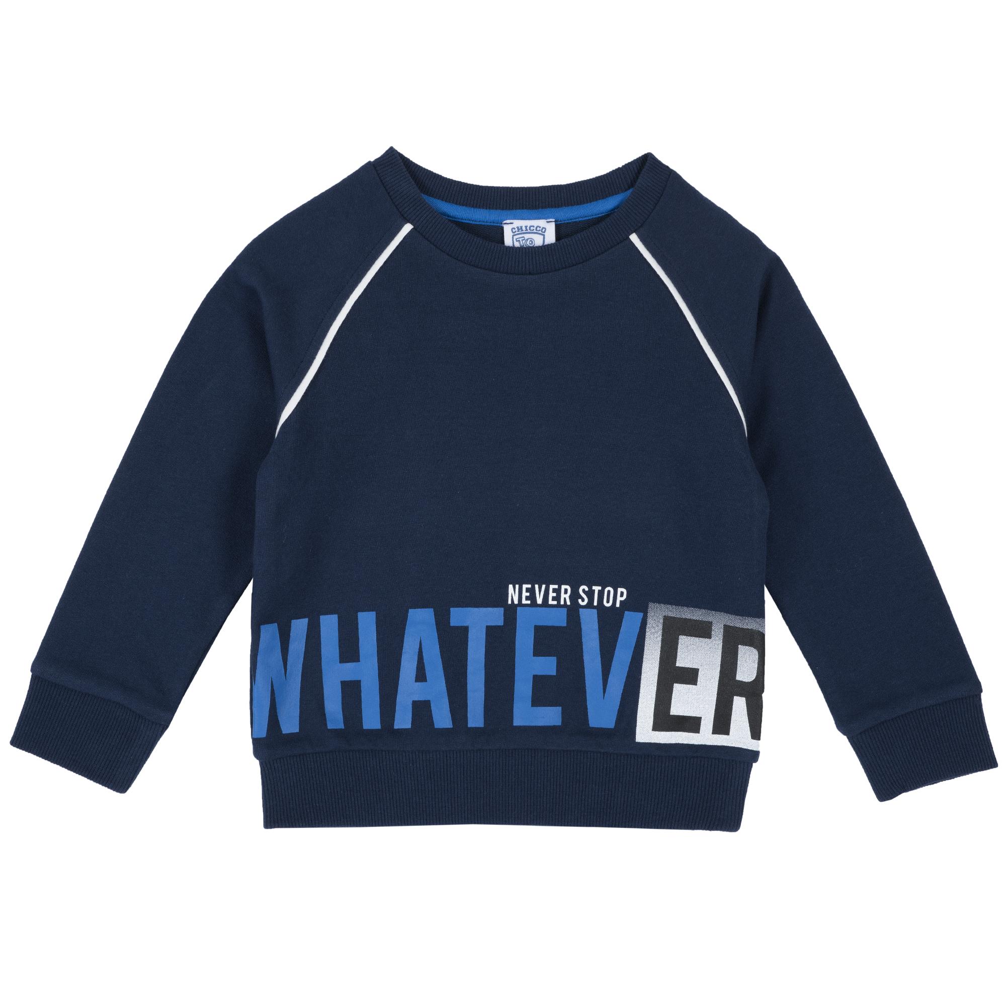 Bluza copii Chicco, sport, albastru inchis, 69364