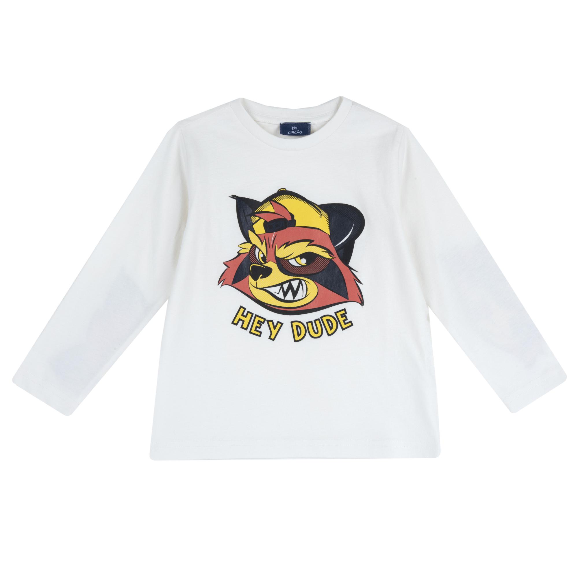 Tricou maneca lunga copii Chicco, 67376-61CLT, alb