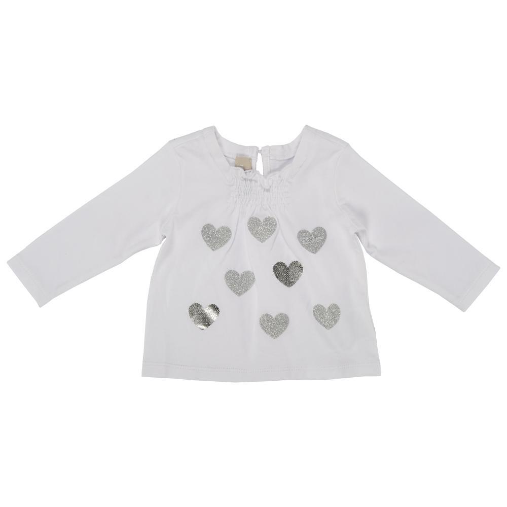 Tricou maneca lunga, copii Chicco, fetite, alb, 06339