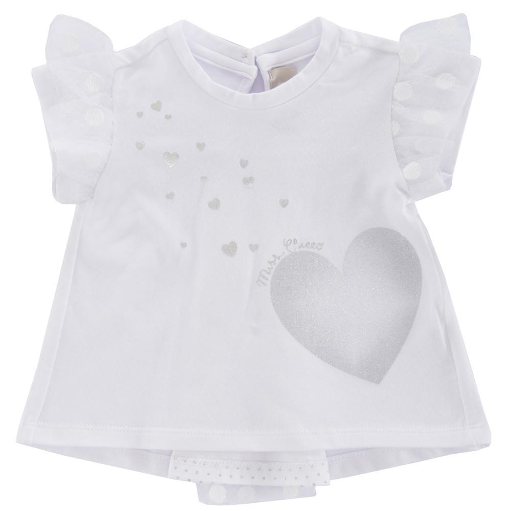 Tricou maneca scurta copii Chicco, fetite, alb, 06341