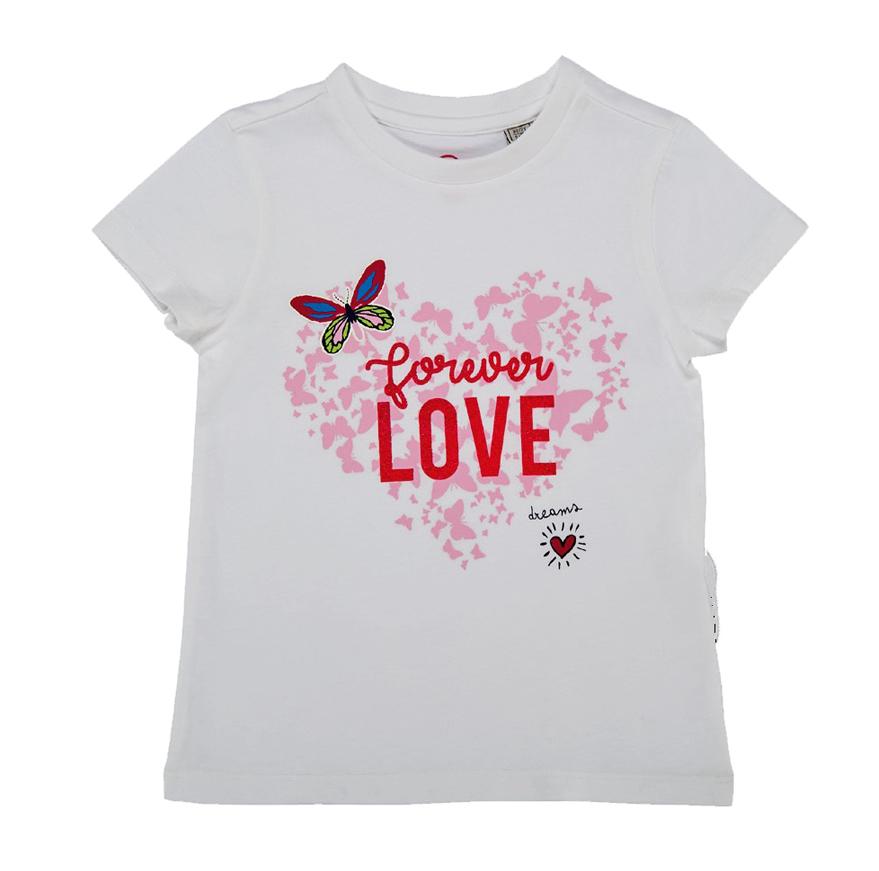 Tricou maneca scurta copii Chicco, fetite, alb din categoria Tricouri copii