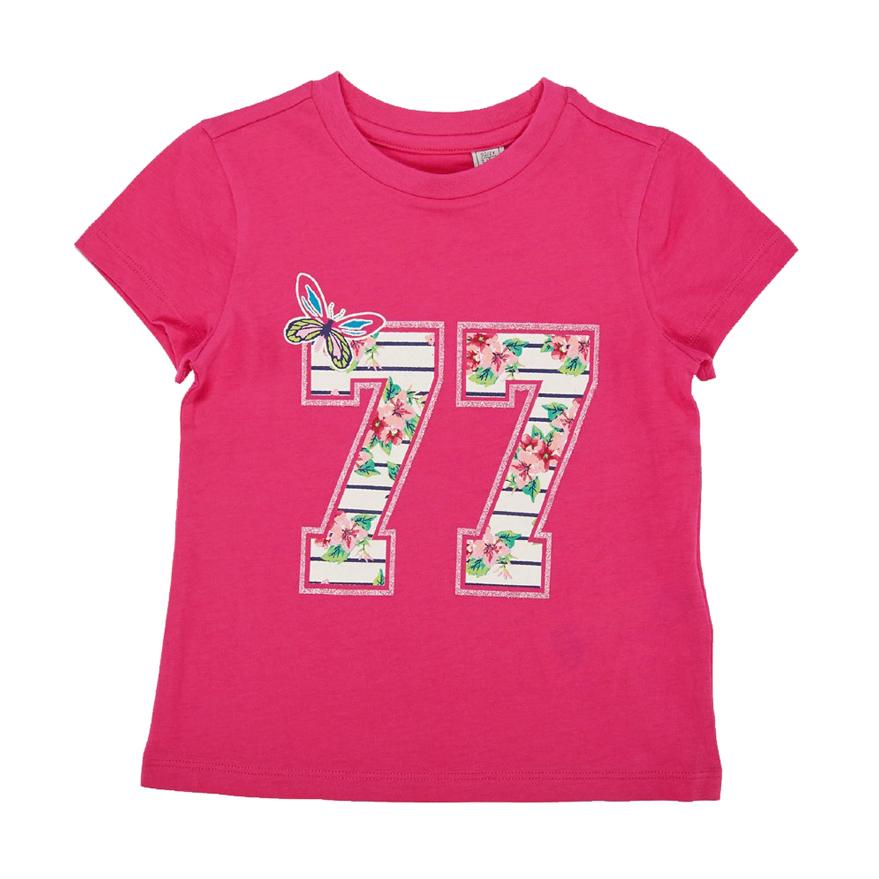 Tricou maneca scurta copii Chicco, fetite, ciclamen, 06209