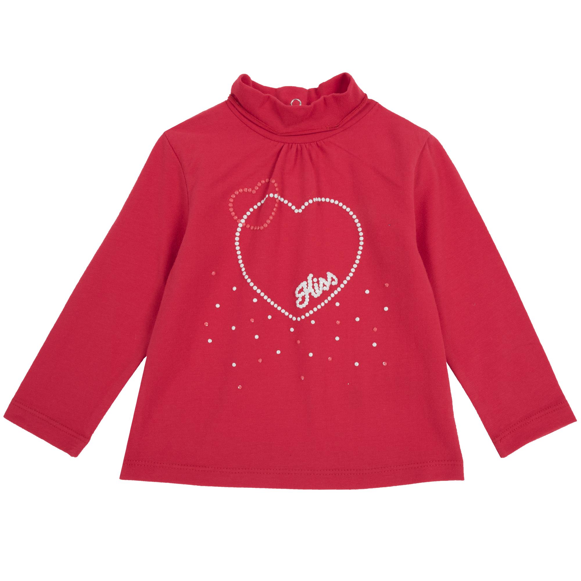 Tricou copii Chicco, rosu, 06486