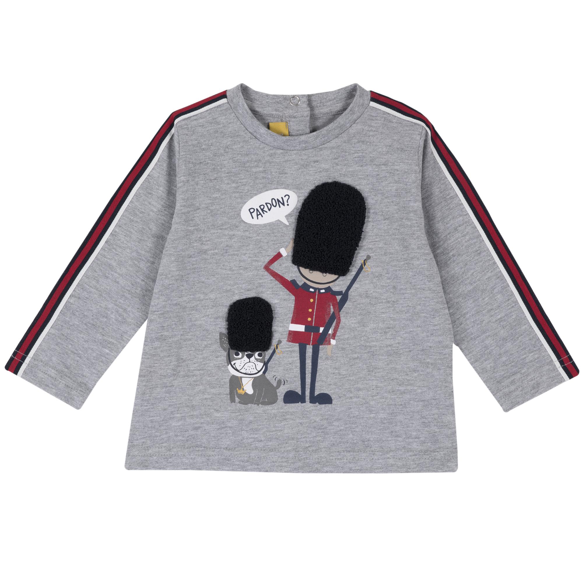 Tricou copii Chicco, maneca lunga, motive britanice, 06792 din categoria Tricouri copii