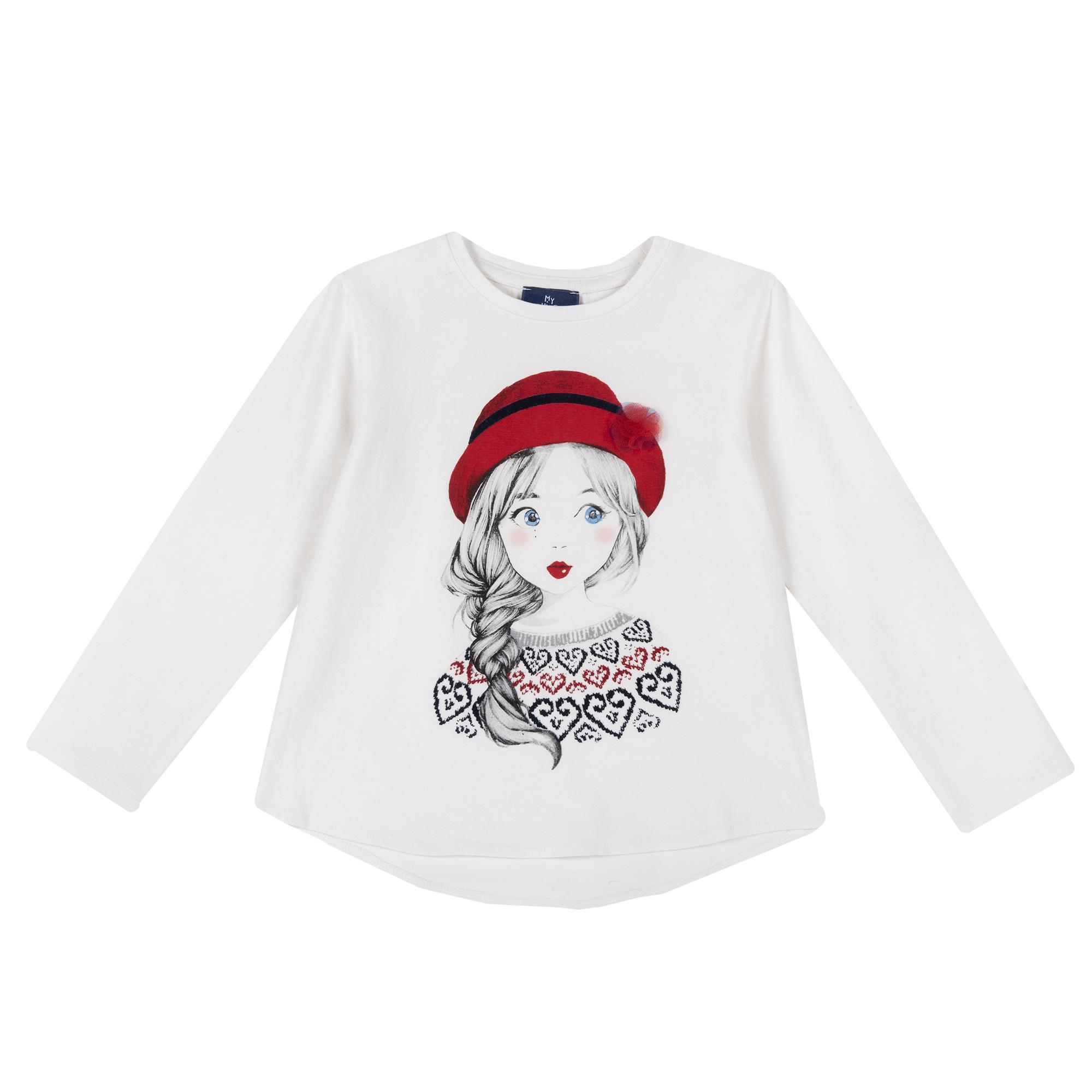 Bluza Copii Chicco, Alb Cu Imprimeu, 64875 imagine