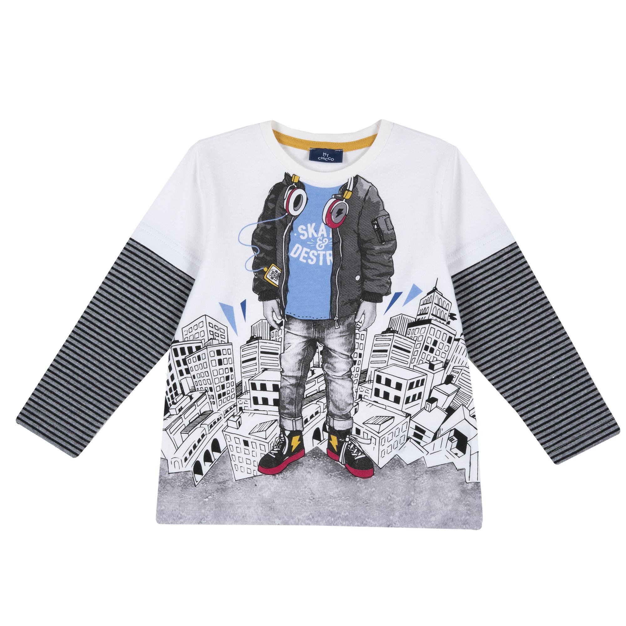 Bluza Copii Chicco, Alb Cu Imprimeu, 47725 imagine