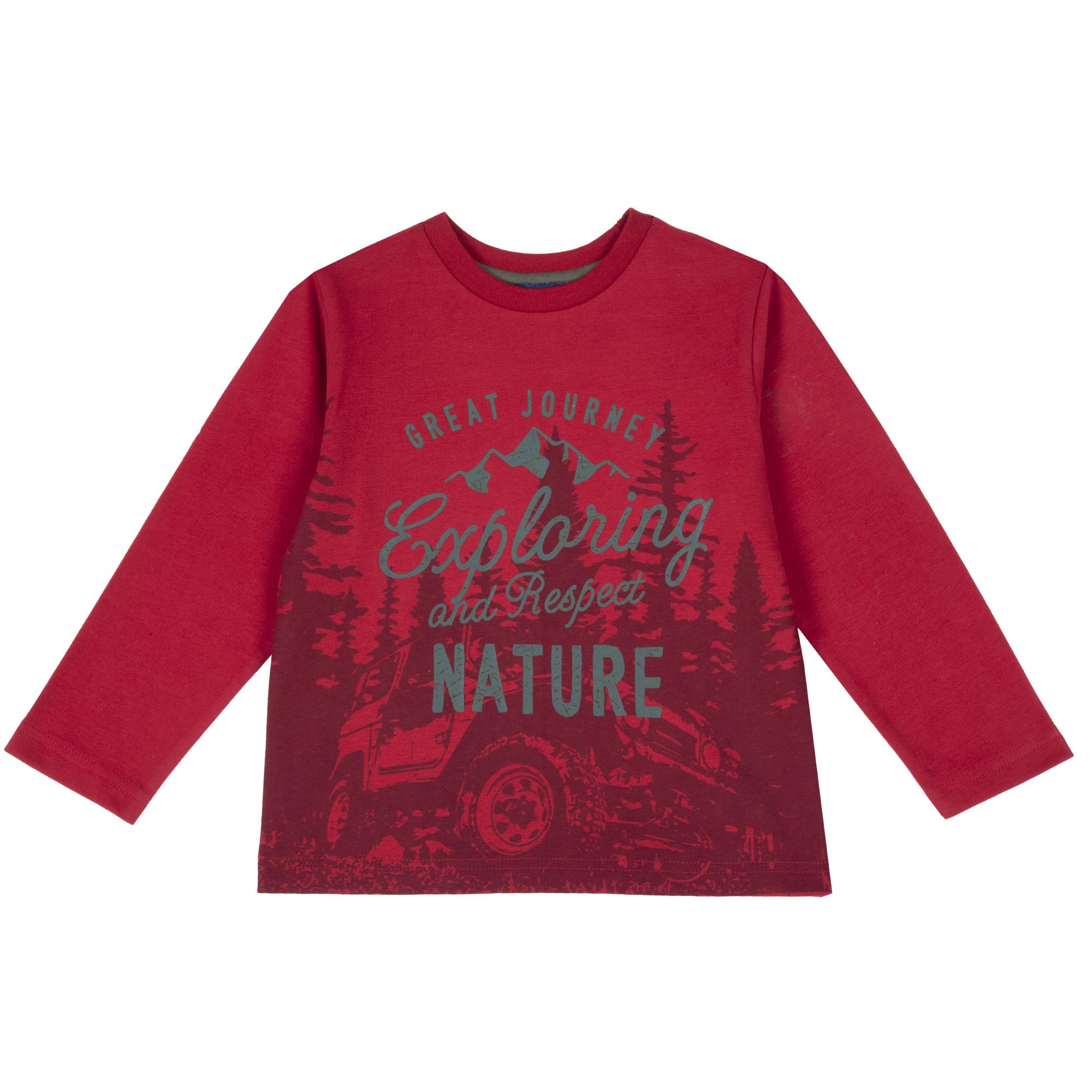 Bluza Copii Chicco, Rosu Cu Model, 67058 imagine