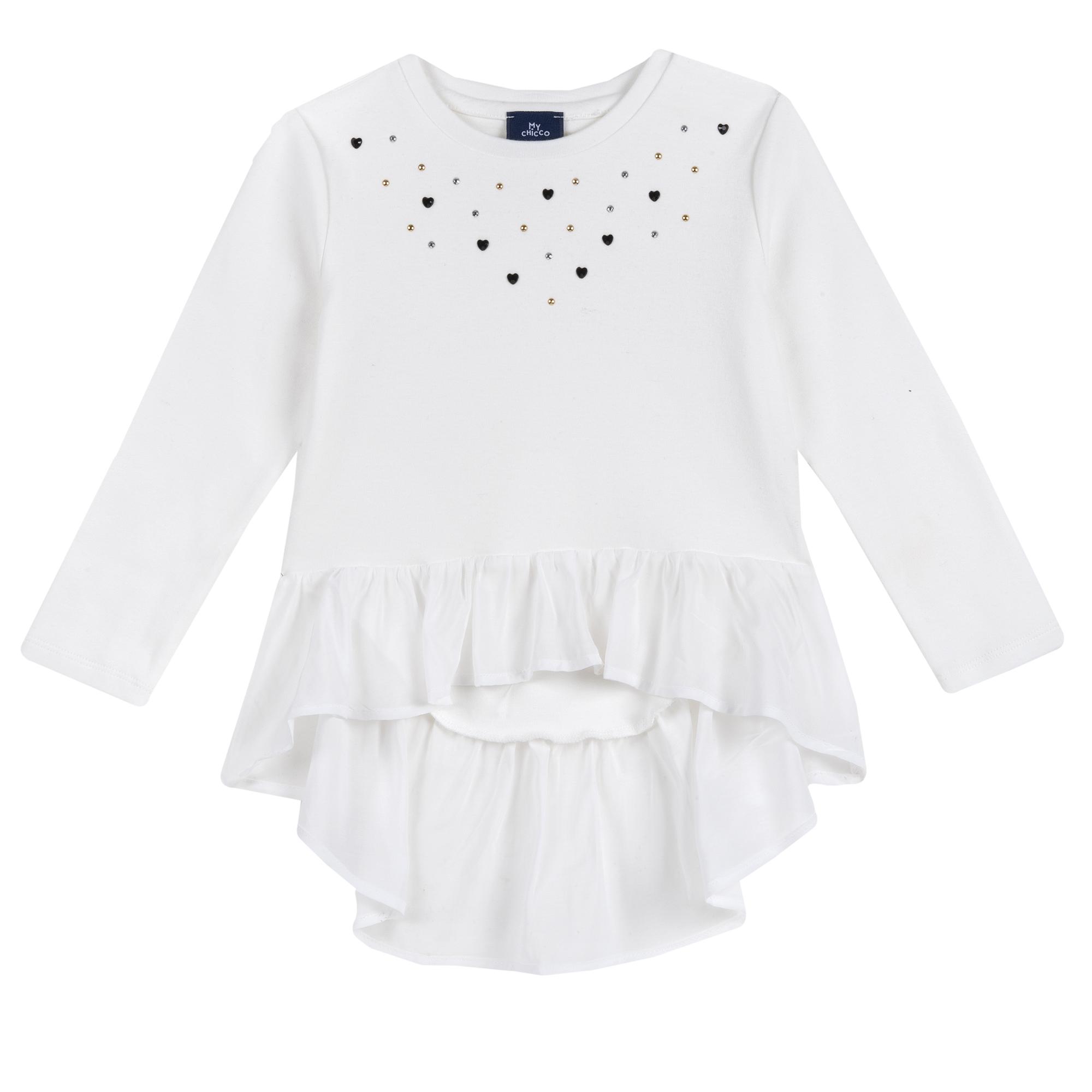 Bluza Copii Chicco, Volanas, Alb, 47907 imagine