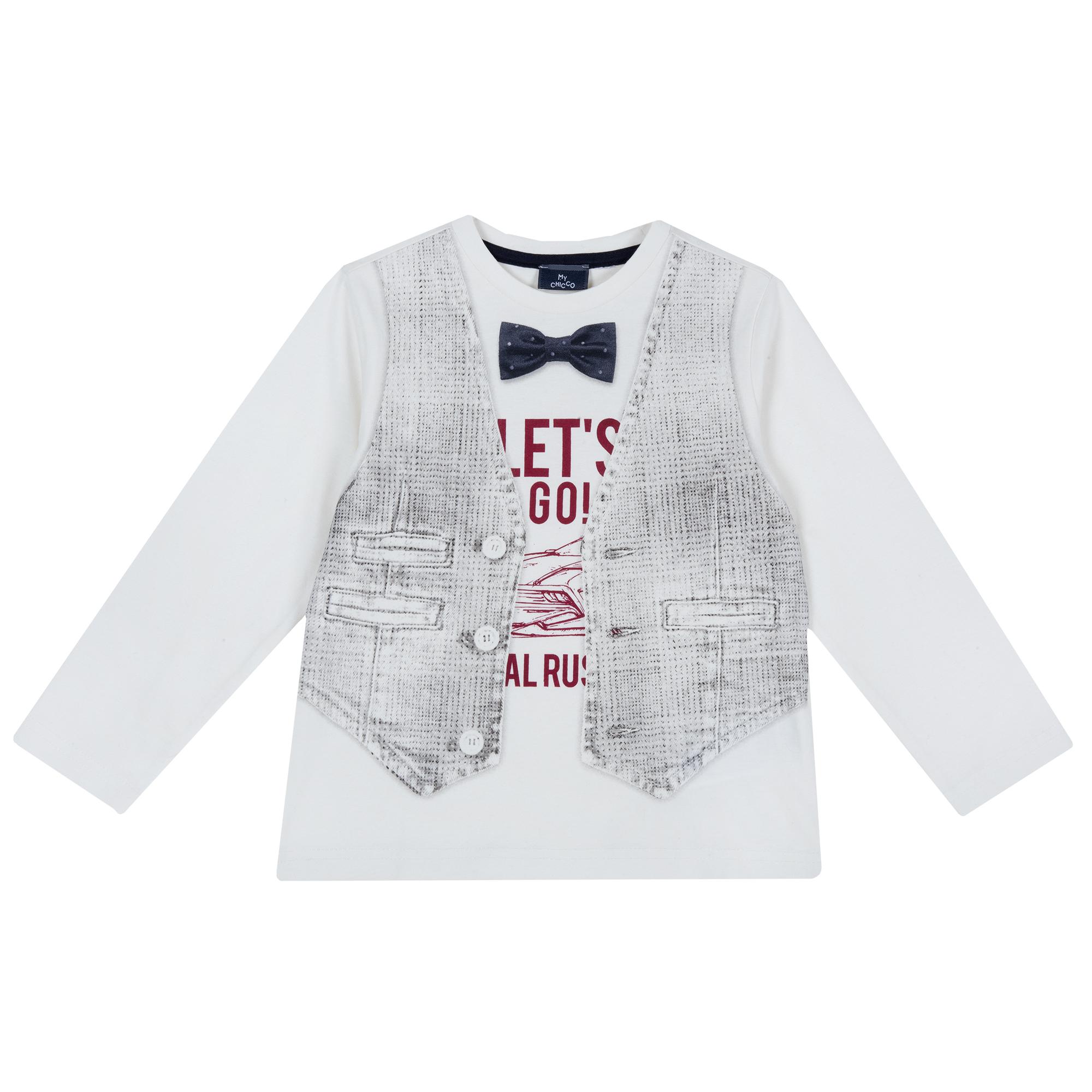 Bluza Copii Chicco, Alb Cu Model, 47816 imagine