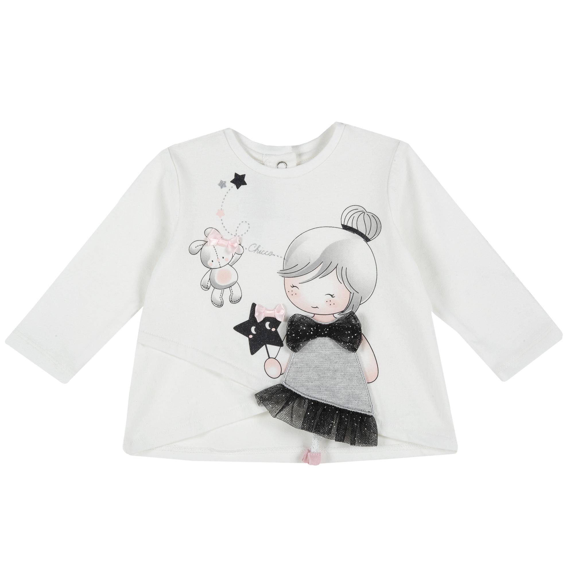 Bluza Copii Chicco, Alb Cu Aplicatii, 47753 imagine