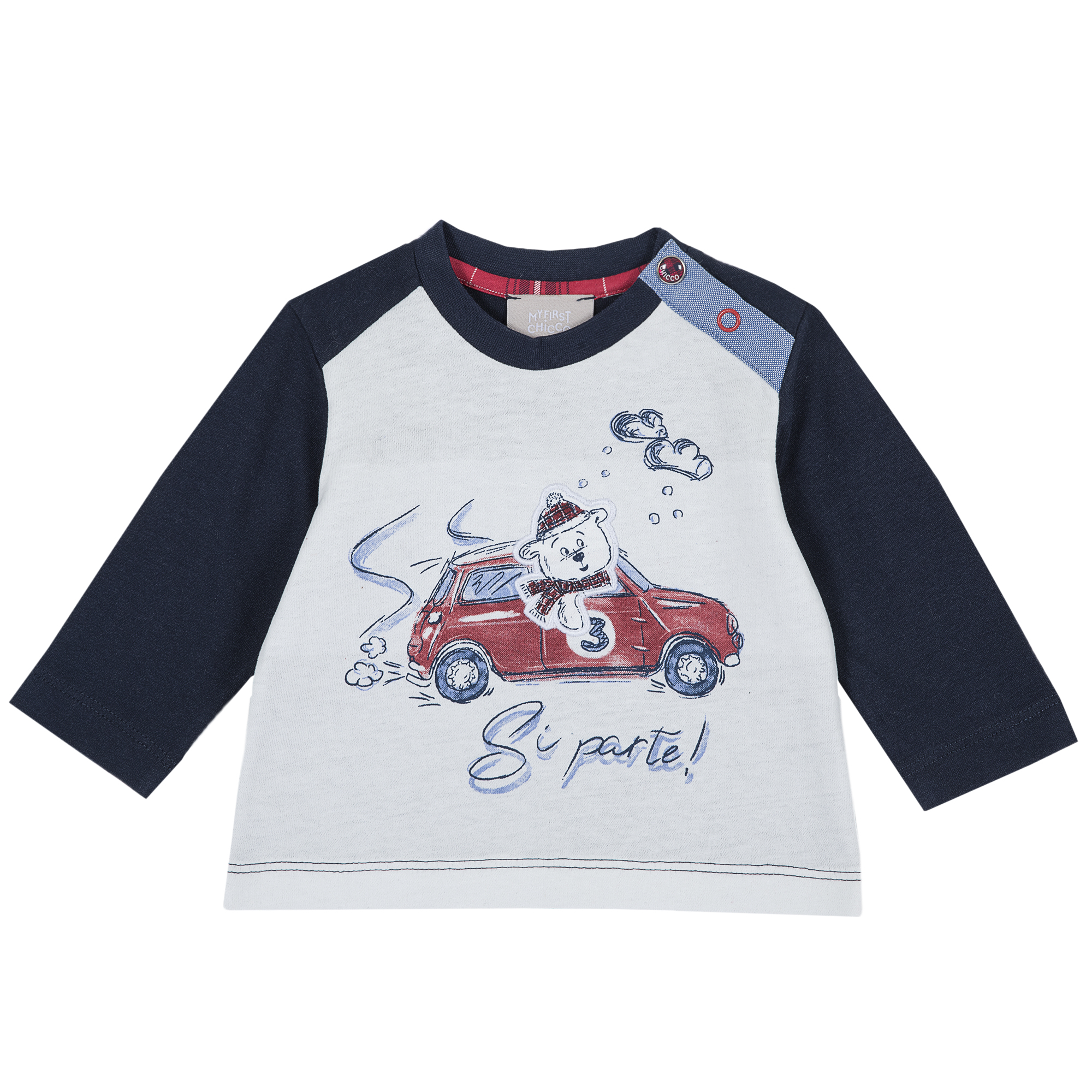 Tricou Copii Chicco, Maneca Lunga Imprimeu Ursulet, 06803