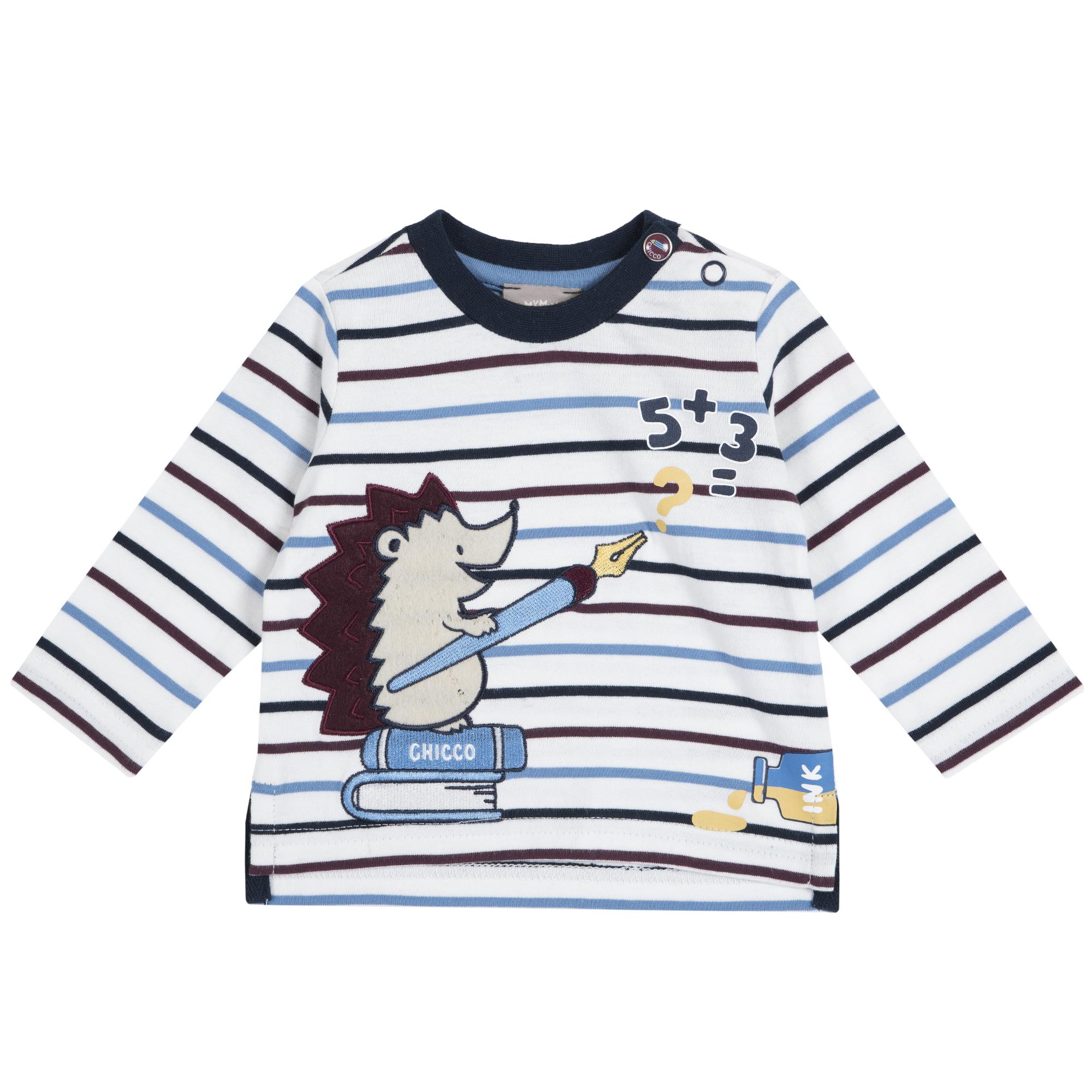 Tricou copii Chicco, maneca lunga, imprimeu ariciul matematician, 06765 din categoria Tricouri copii