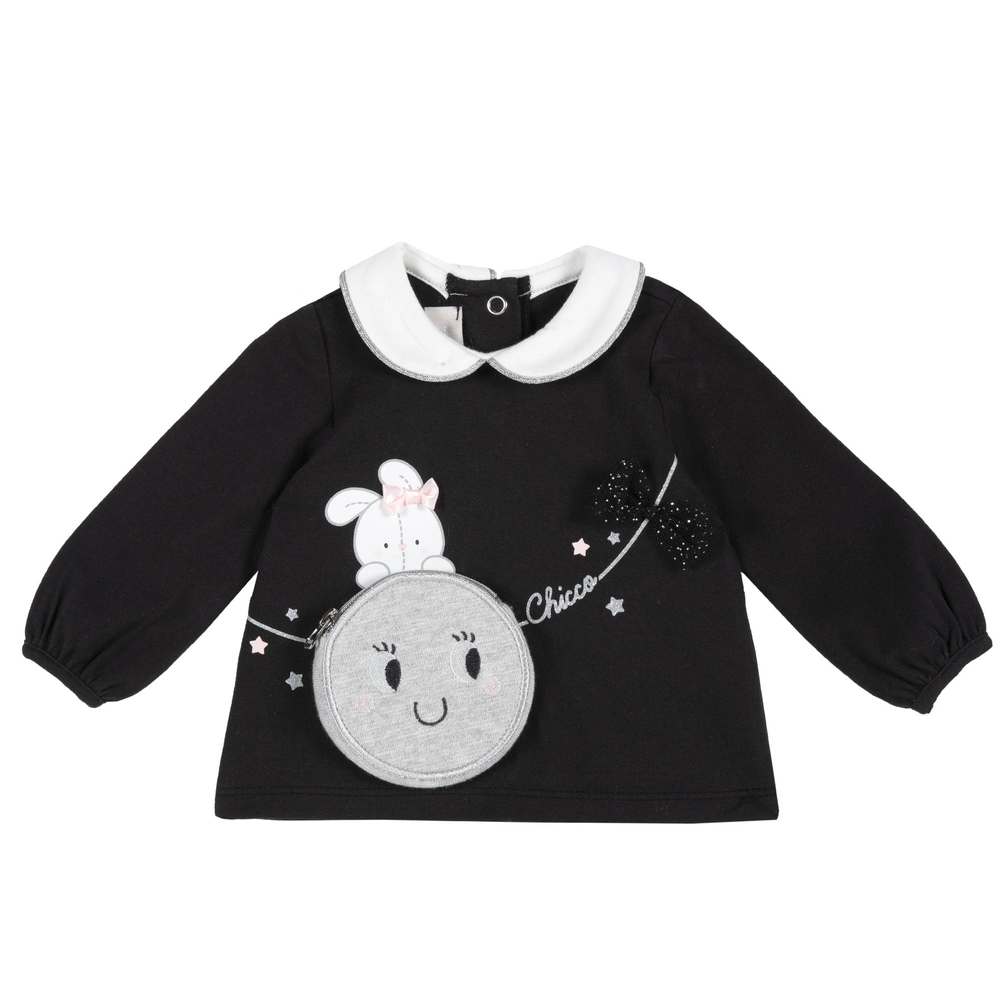 Bluza copii Chicco negru cu model
