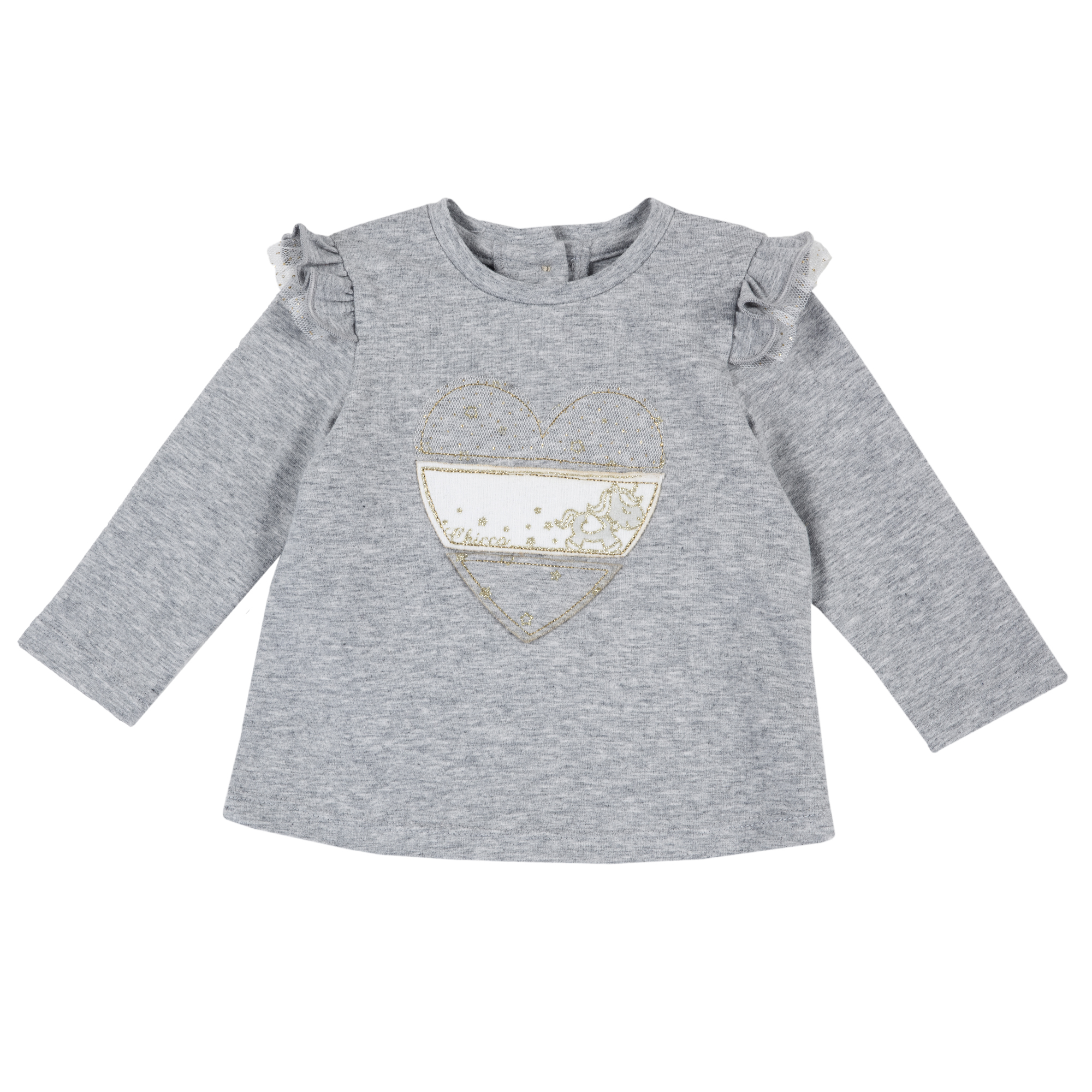 Bluza Copii Chicco, Maneca Lunga, Gri Deschis, 06800 imagine
