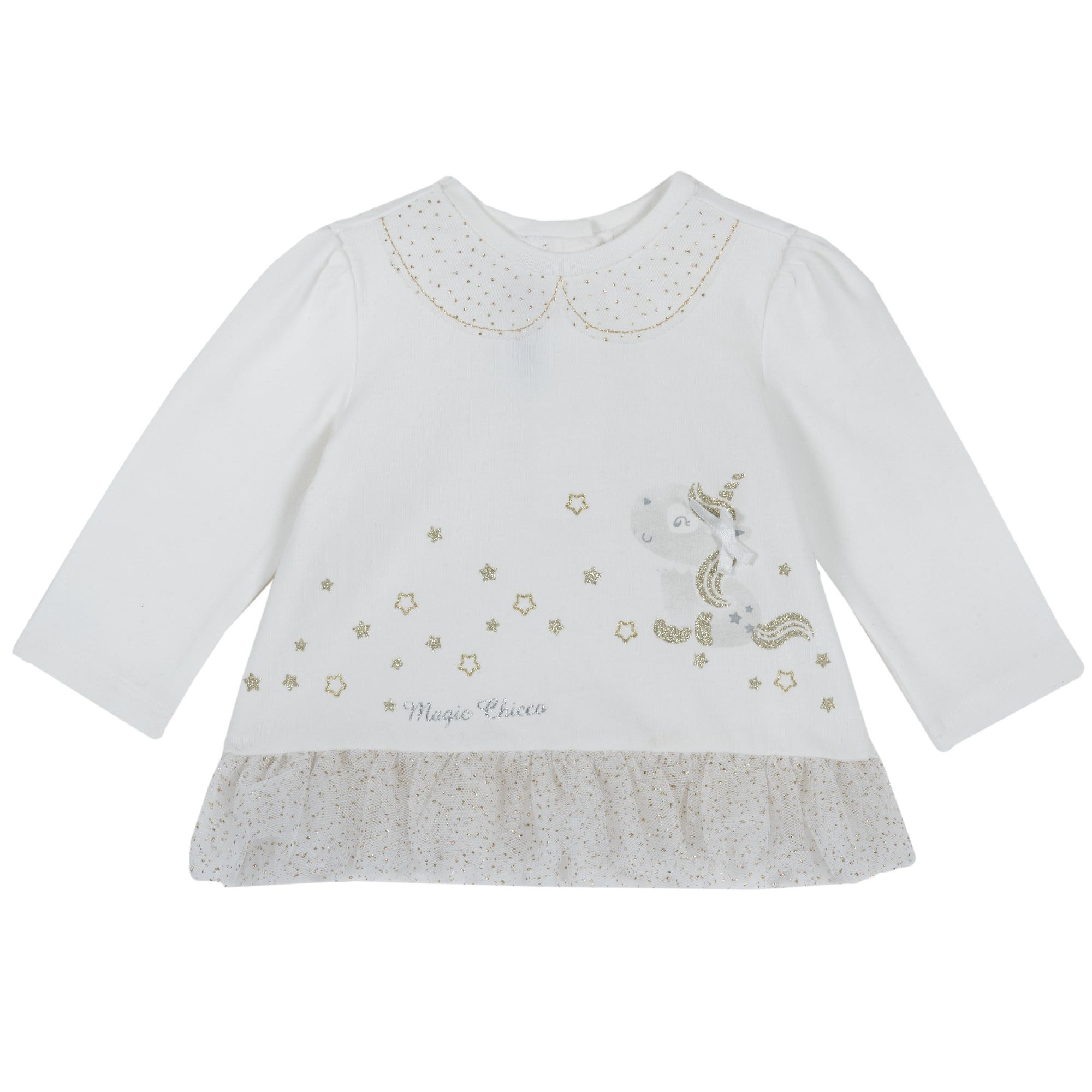 Bluza Copii Chicco, Maneca Lunga, Alb, 06799