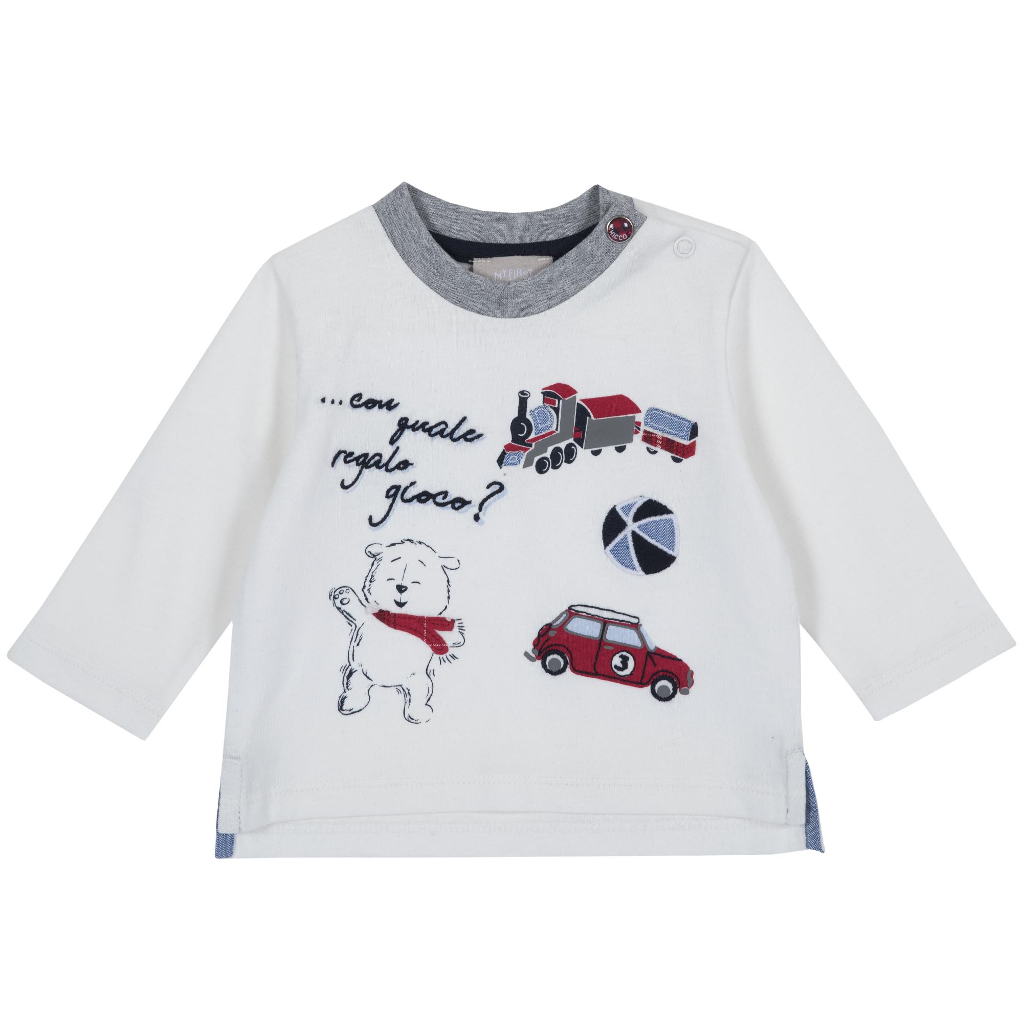 Tricou Copii Chicco, Maneca Lunga, Imprimeu Jucarii, 06804