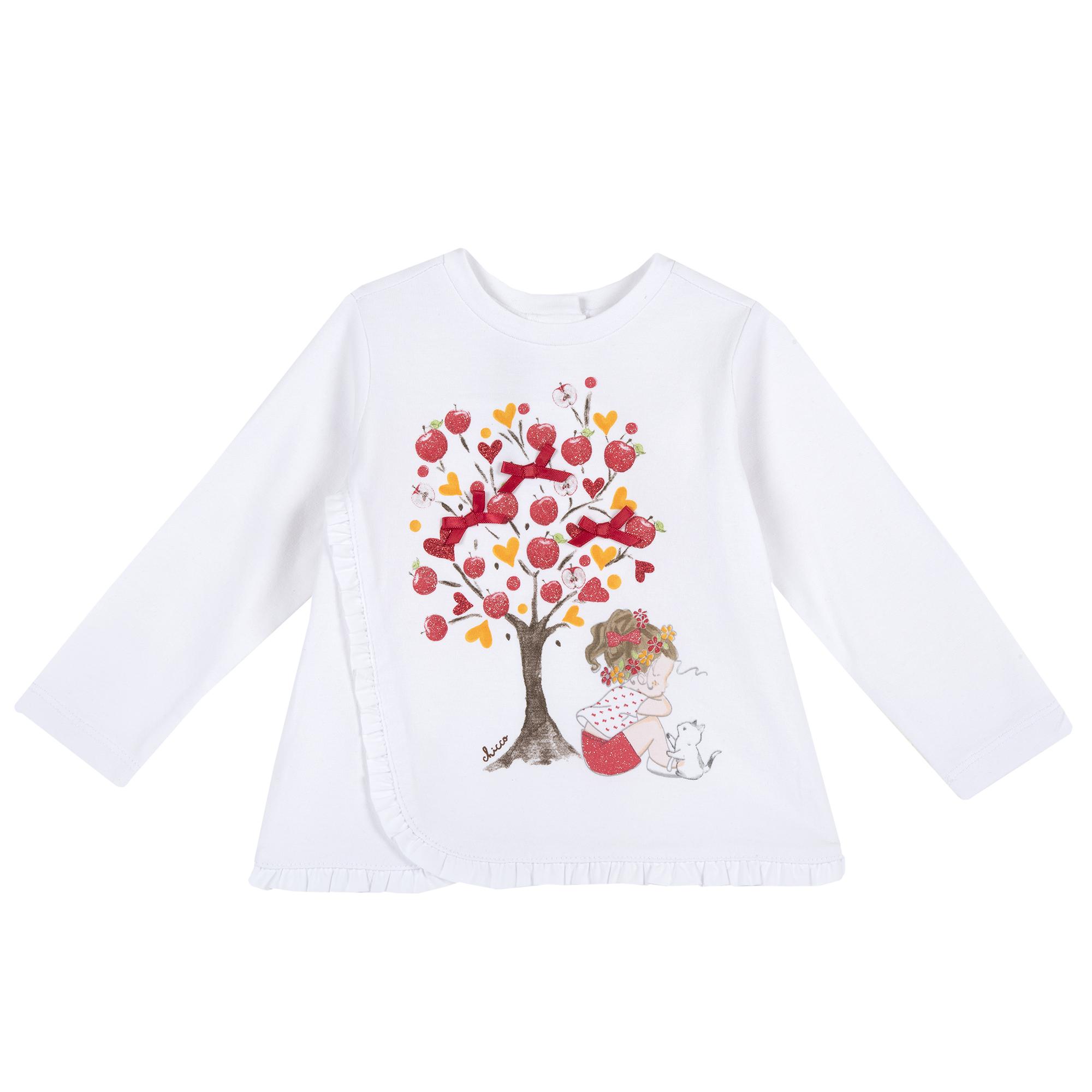 Bluza Copii Chicco, Alb Cu Imprimeu, 06882 imagine
