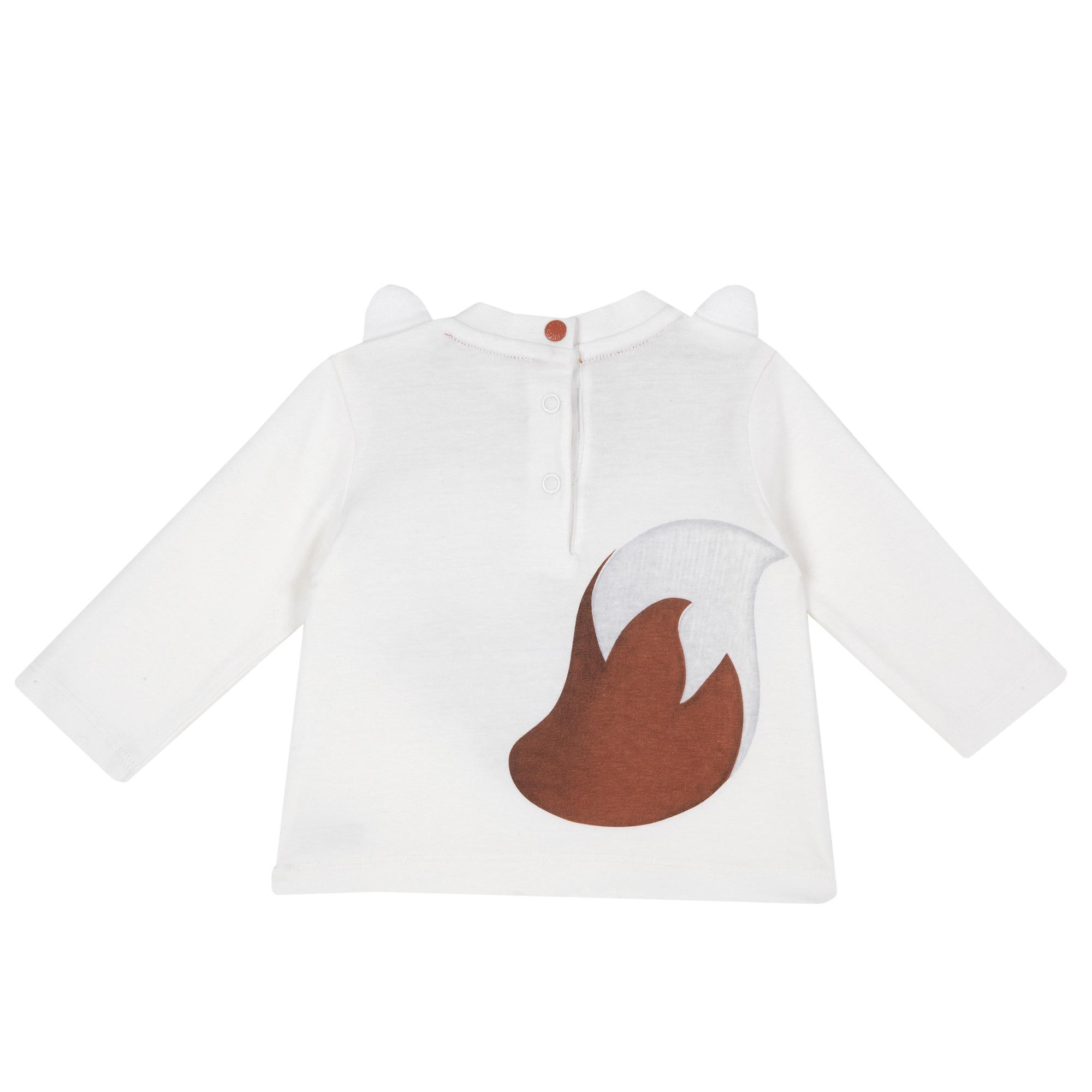 Bluza Copii Chicco, Alb Cu Model, 06157 imagine