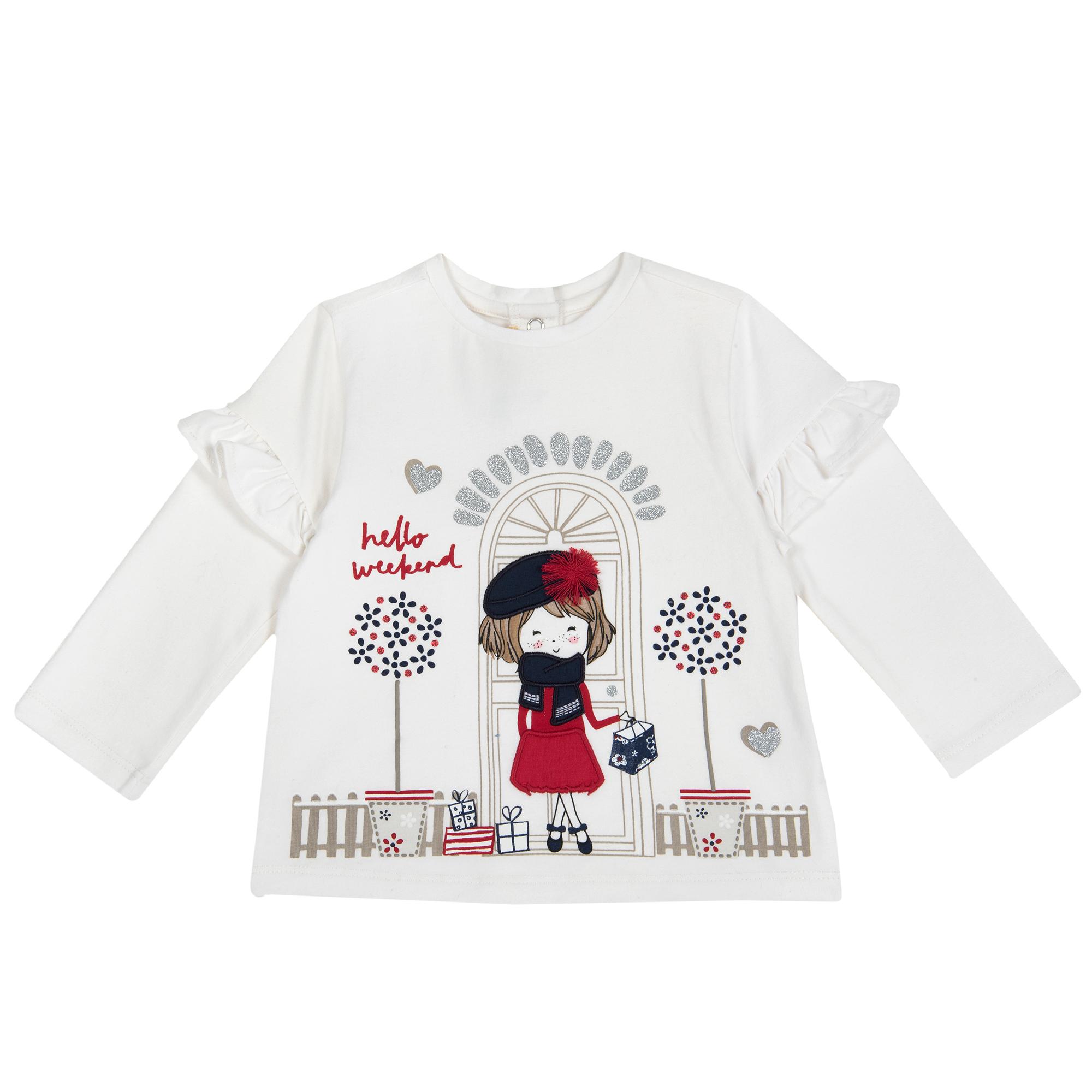 Tricou maneca lunga Chicco, alb, 06801 din categoria Tricouri copii
