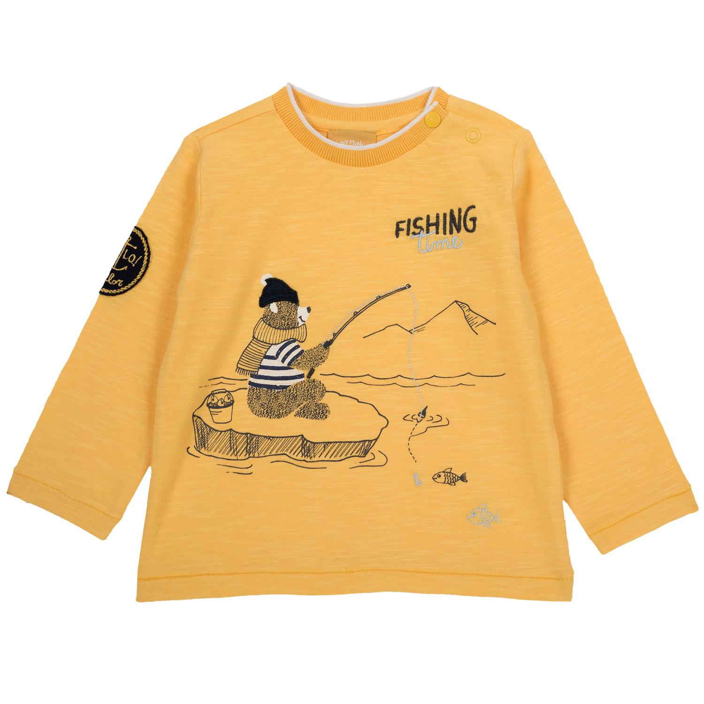Tricou copii Chicco, galben auriu