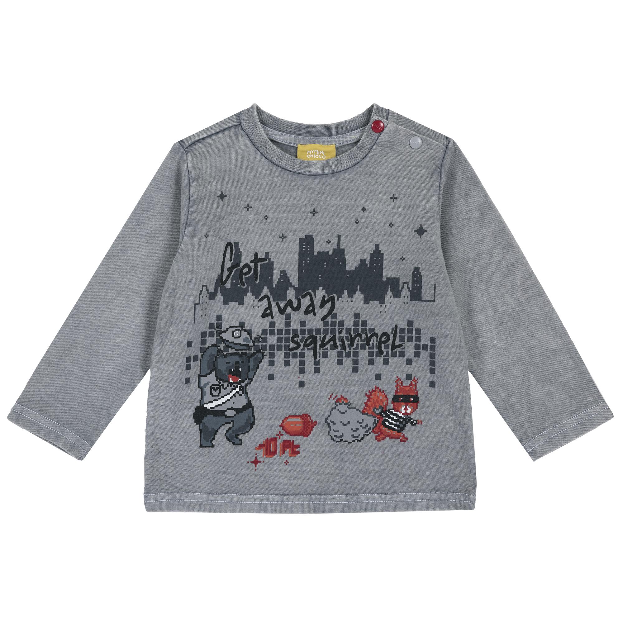 Tricou copii Chicco, maneca lunga, gri, 06758 din categoria Tricouri copii