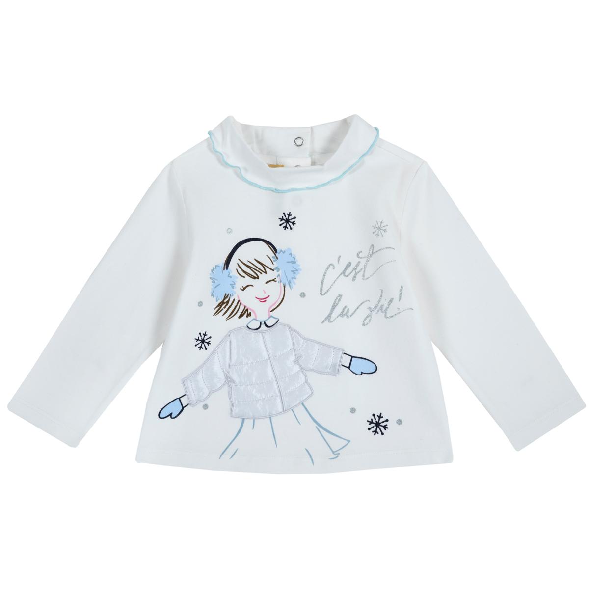Tricou copii Chicco, maneca lunga, alb, 06779 din categoria Tricouri copii