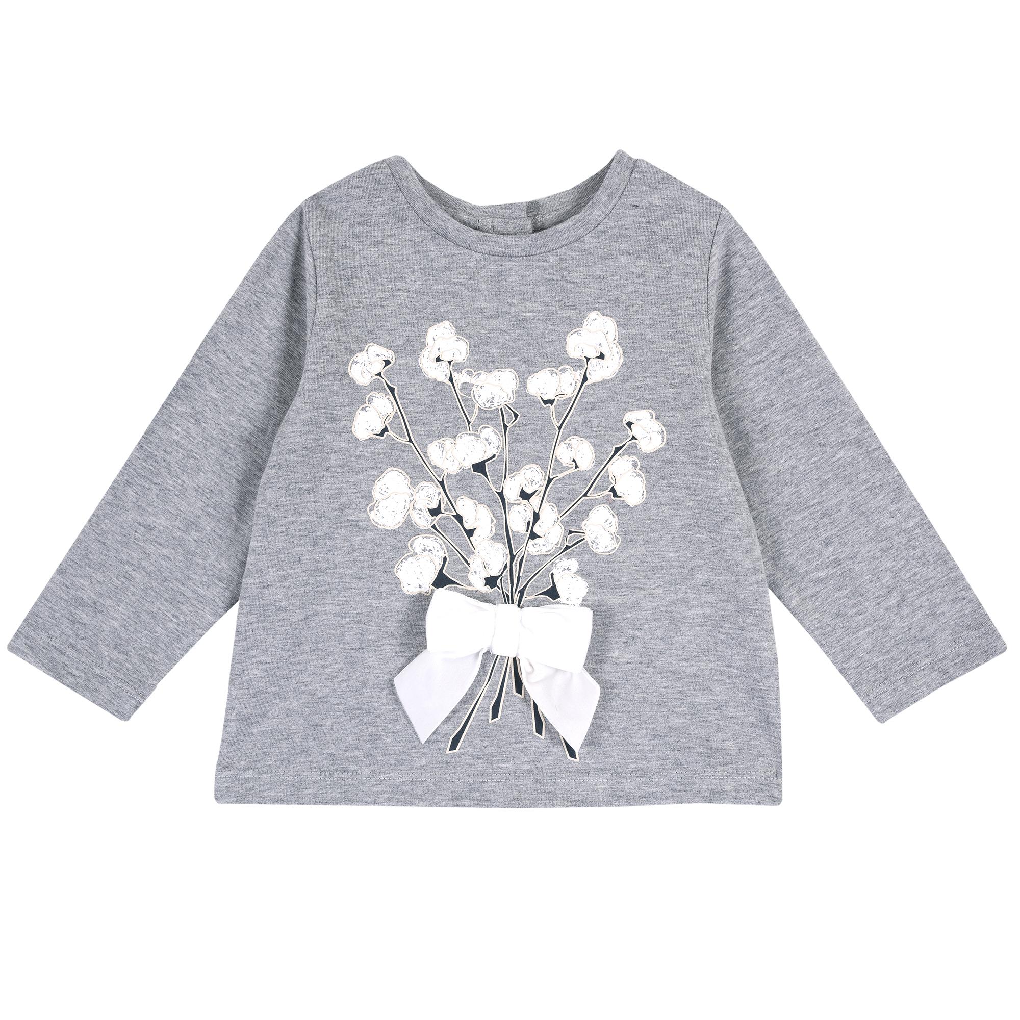 Tricou copii Chicco, maneca lunga, imprimeu flori de bumbac, 06808 din categoria Tricouri copii