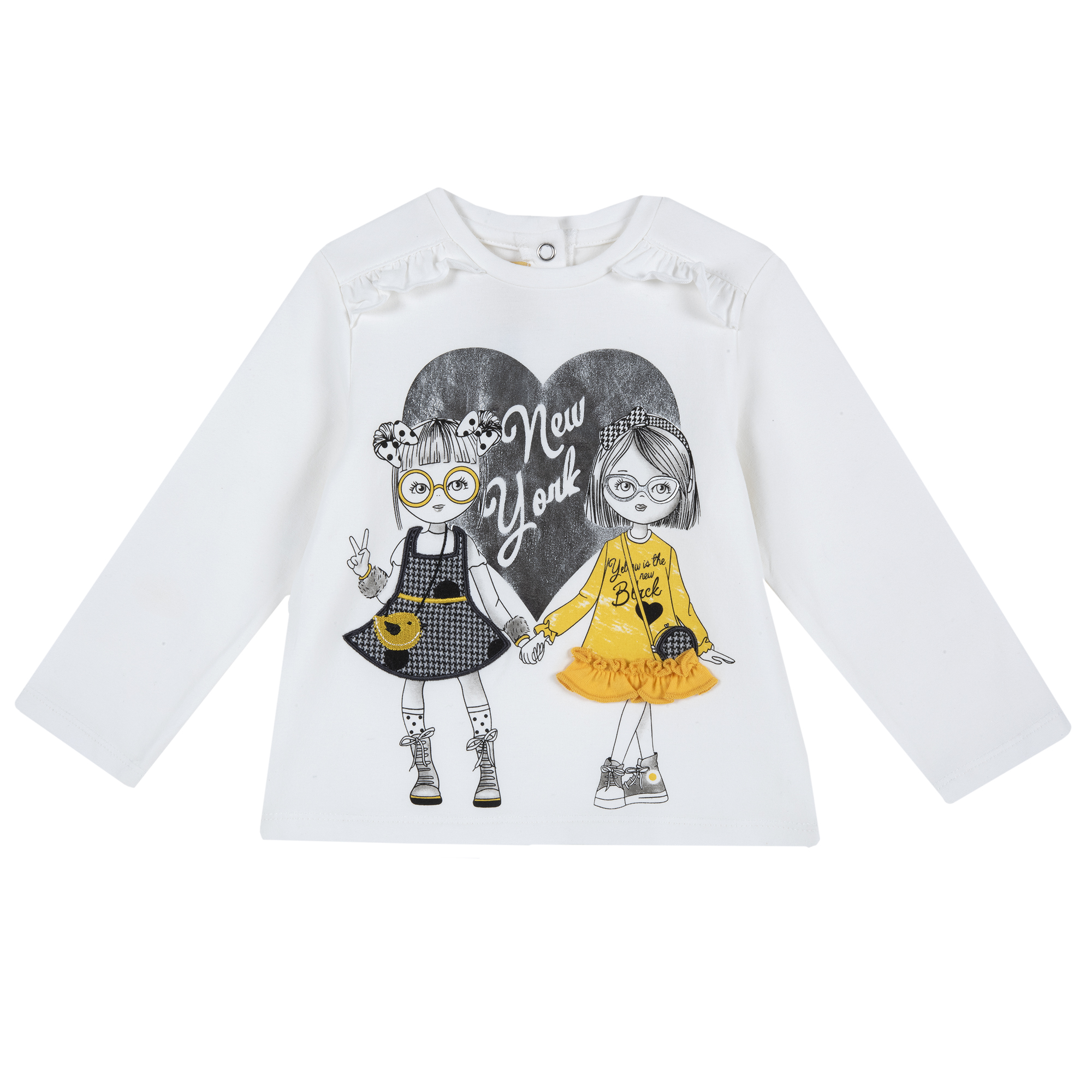 Bluza Copii Chicco, Volanase, Alb, 06284 imagine