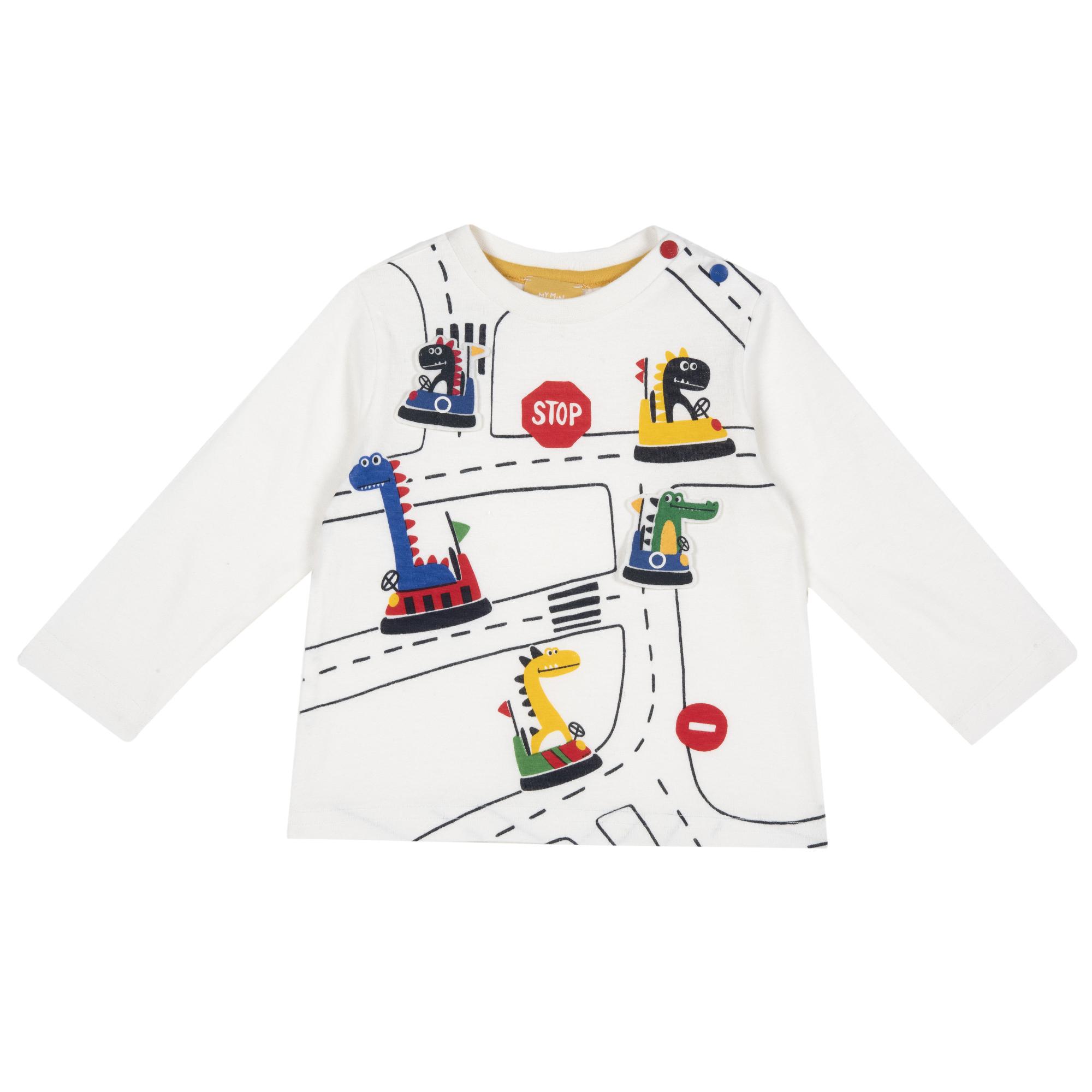Bluza Copii Chicco, Alb Cu Imprimeu, 06156 imagine