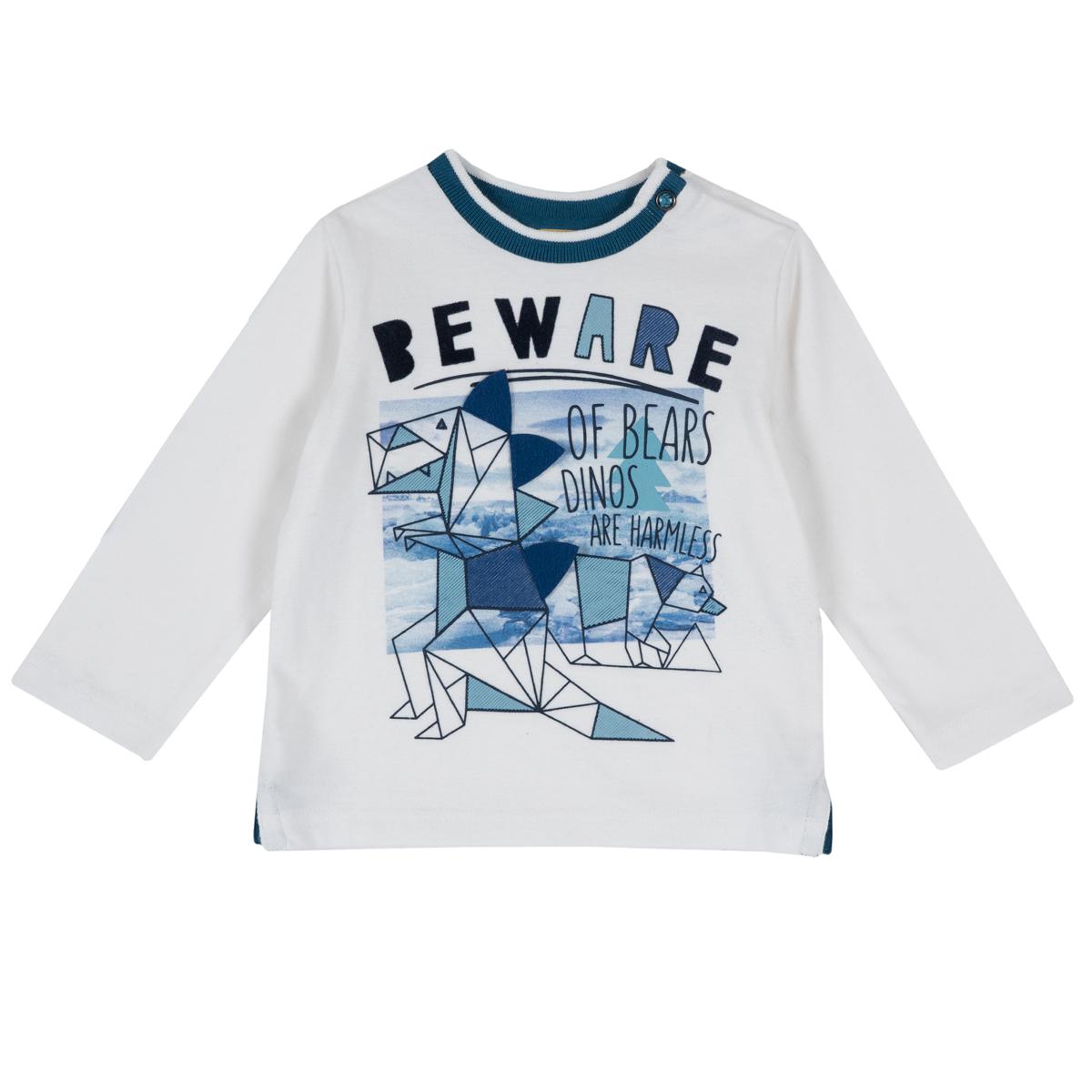 Tricou maneca lunga Chicco, motive geometrice, 06773 din categoria Tricouri copii