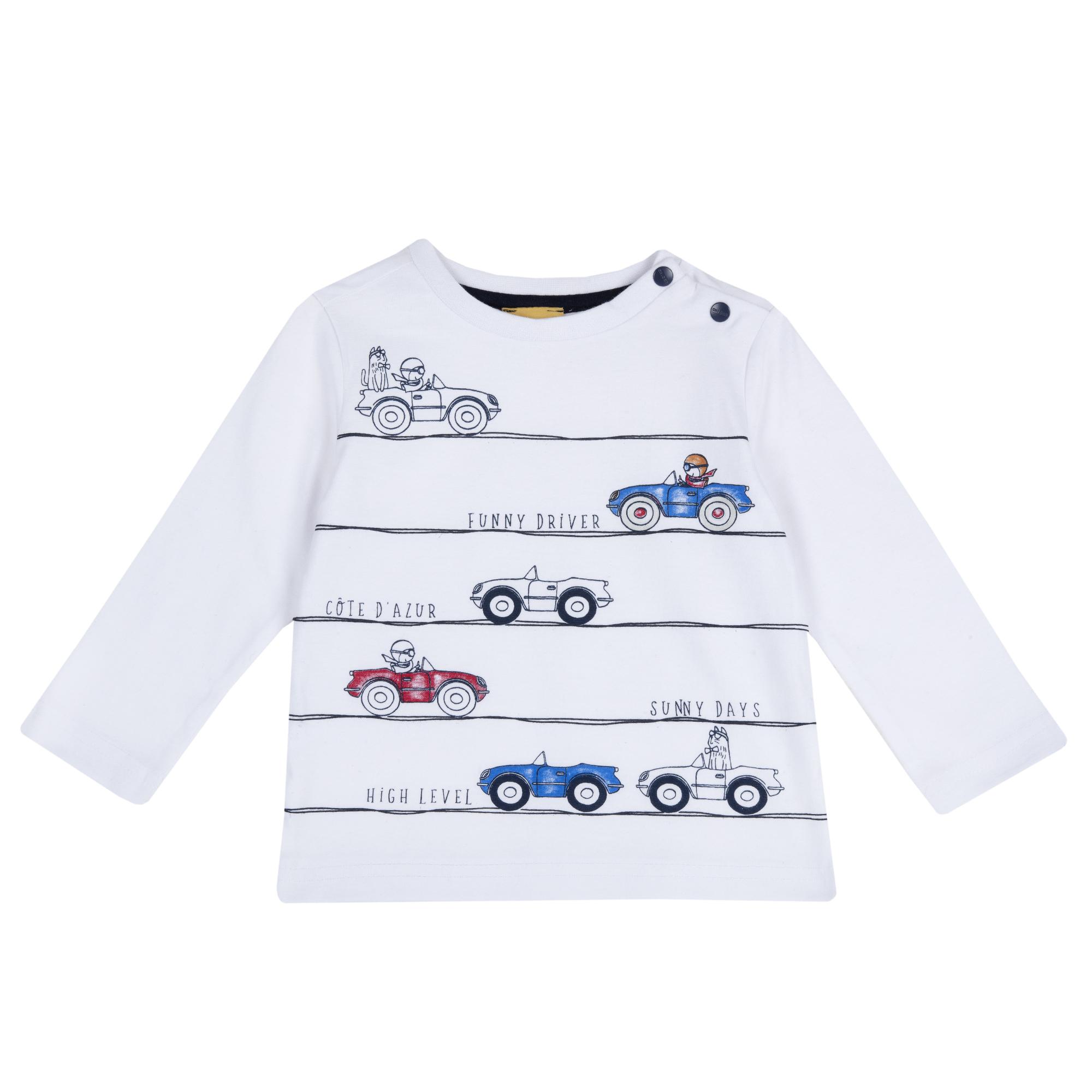 Tricou Copii Chicco, Manega Lunga, Imprimeu, 06960 imagine
