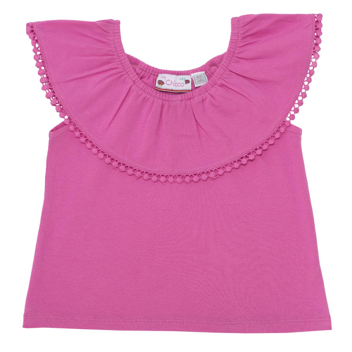 Tricou Fete Chicco, Maneca Scurta, Roz, 06021 imagine