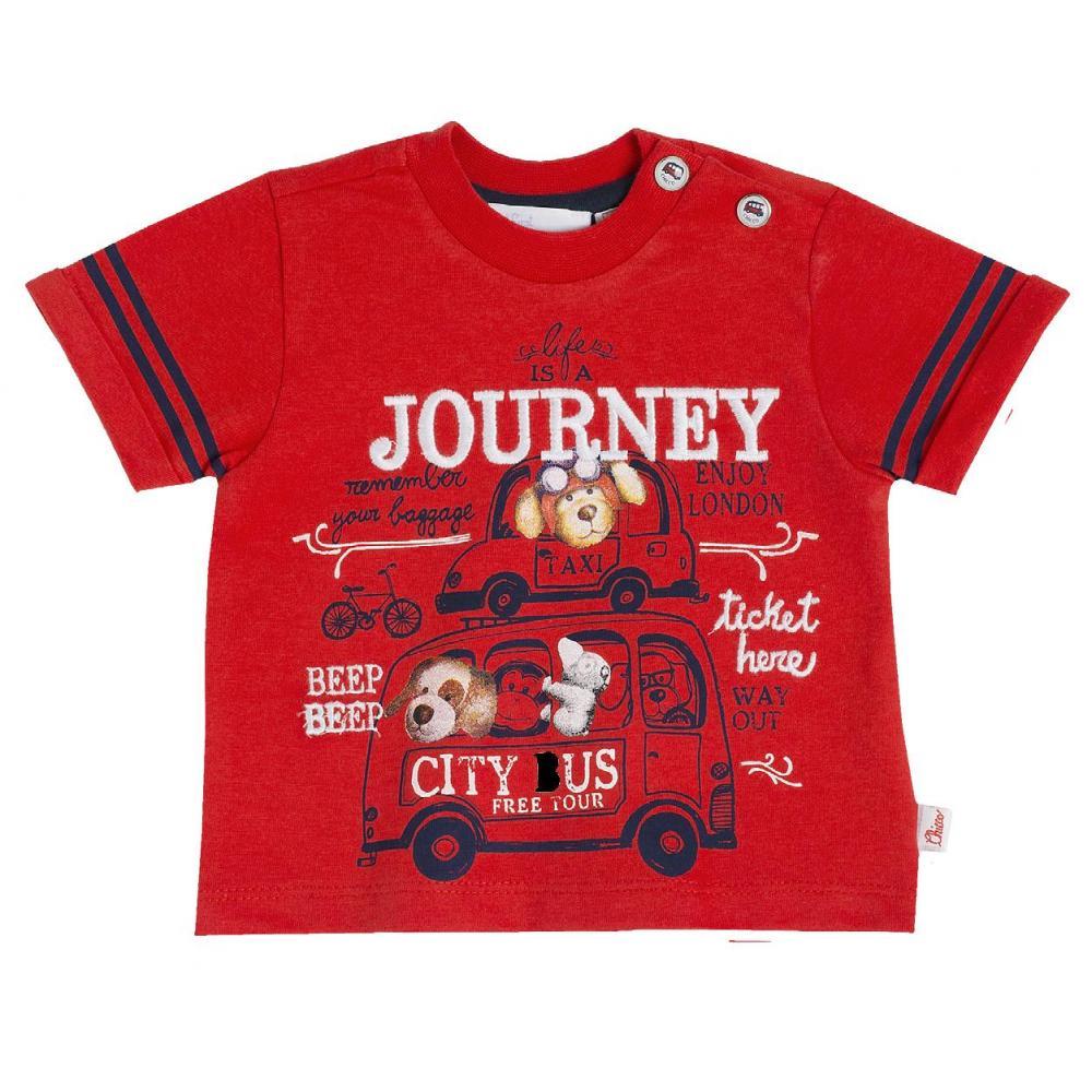 Tricou Chicco, Rosu Cu Model Journey, 47951
