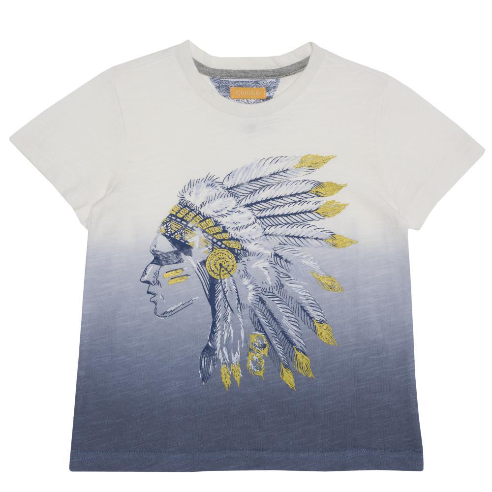 Tricou copii Chicco, maneca scurta, alb cu model din categoria Tricouri copii