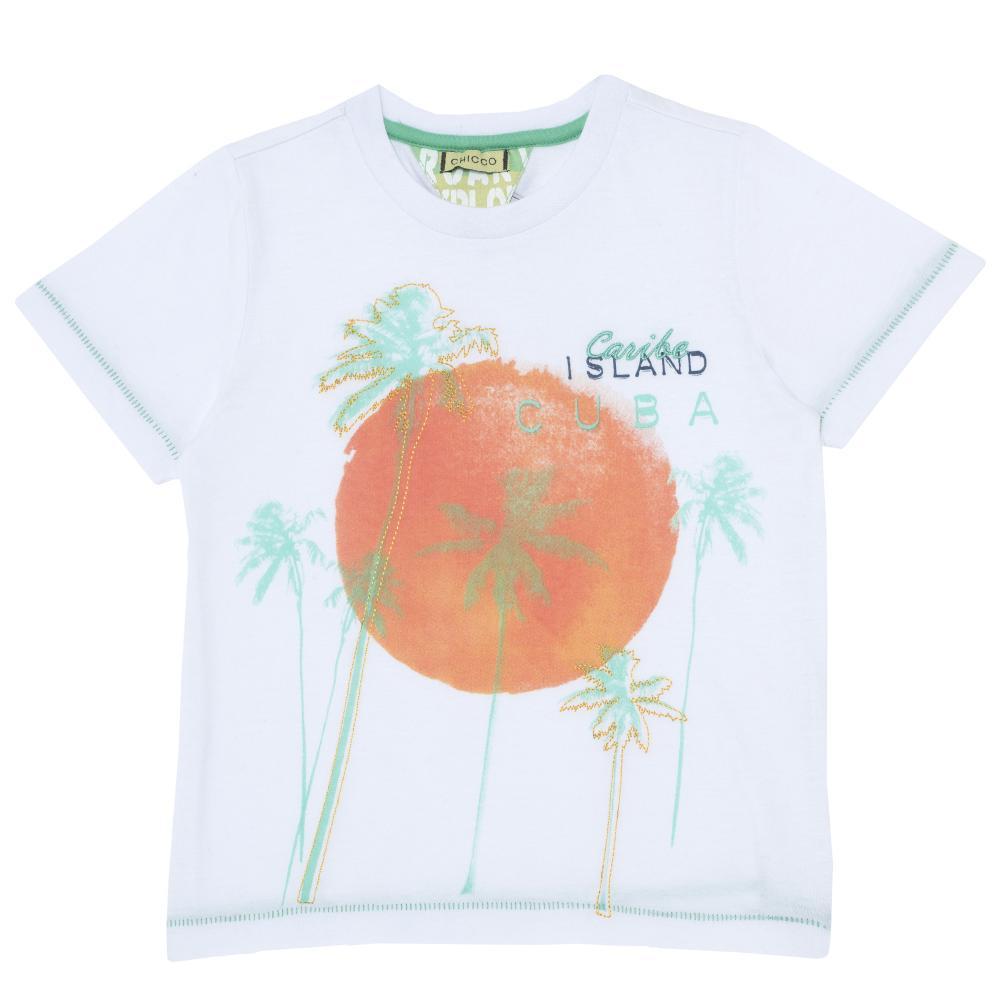 Tricou pentru copii, Chicco, maneca scurta, alb, 06012