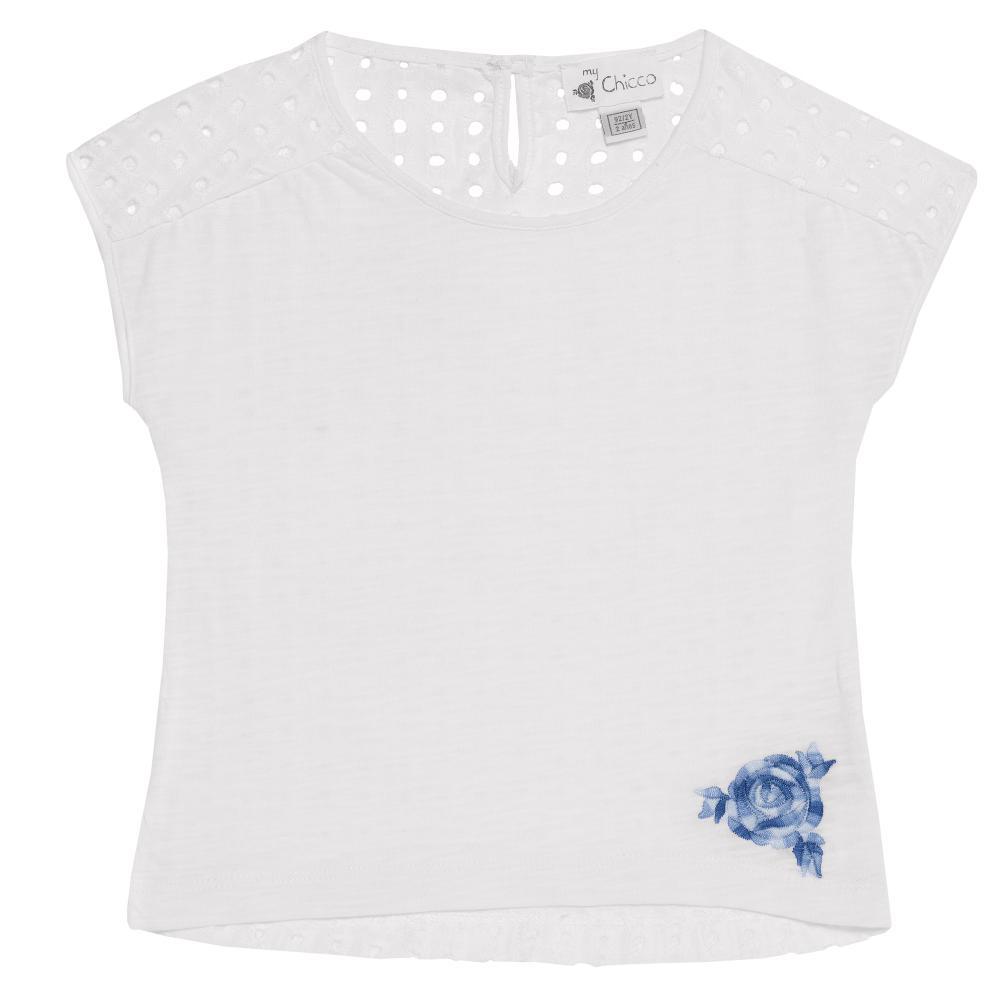 Chicco Tricou fetite Chicco alb cu maneca scurta 116
