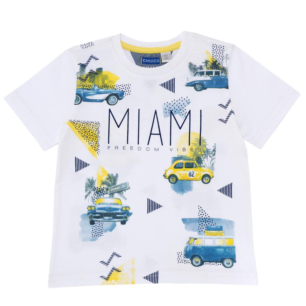 Tricou pentru copii Chicco baieti alb 128
