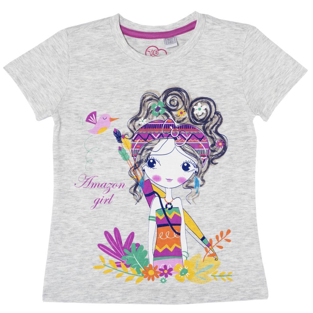 Tricou pentru copii Chicco, fete, gri, 61911