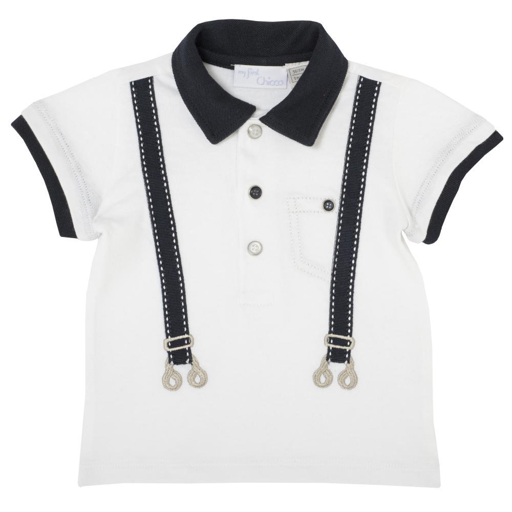 tricou pentru copii, chicco, polo, alb