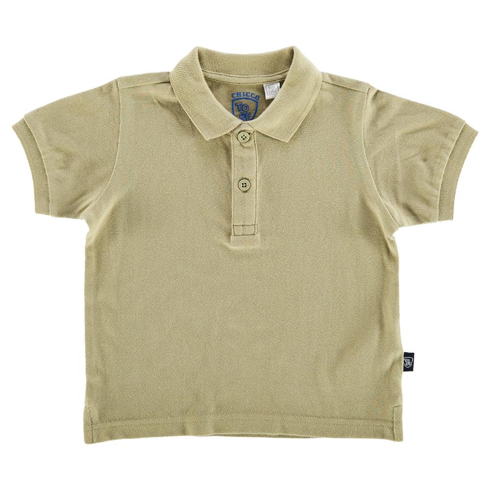 Chicco Tricou polo copii Chicco maneca scurta kaki 104