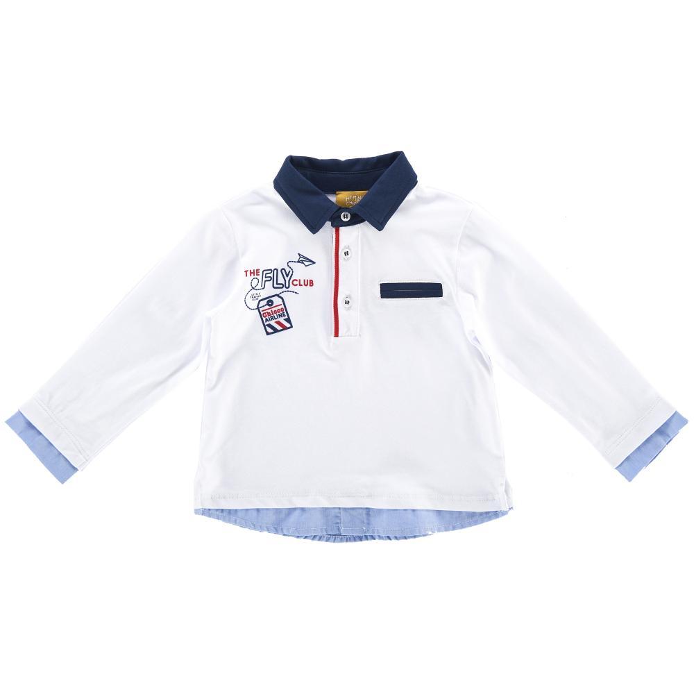 Tricou polo cu maneca lunga copii Chicco, alb din categoria Tricouri copii