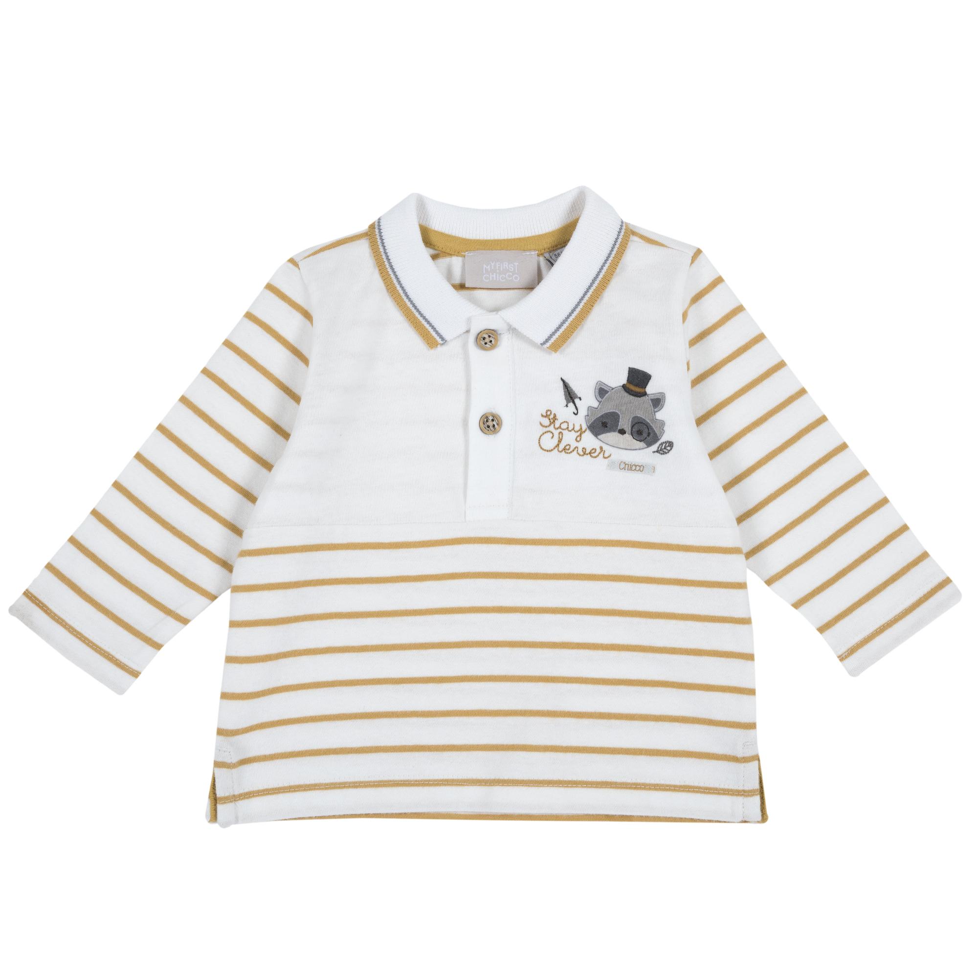 Tricou Copii Chicco, Maneca Lunga Si Guler, Maro, 33507