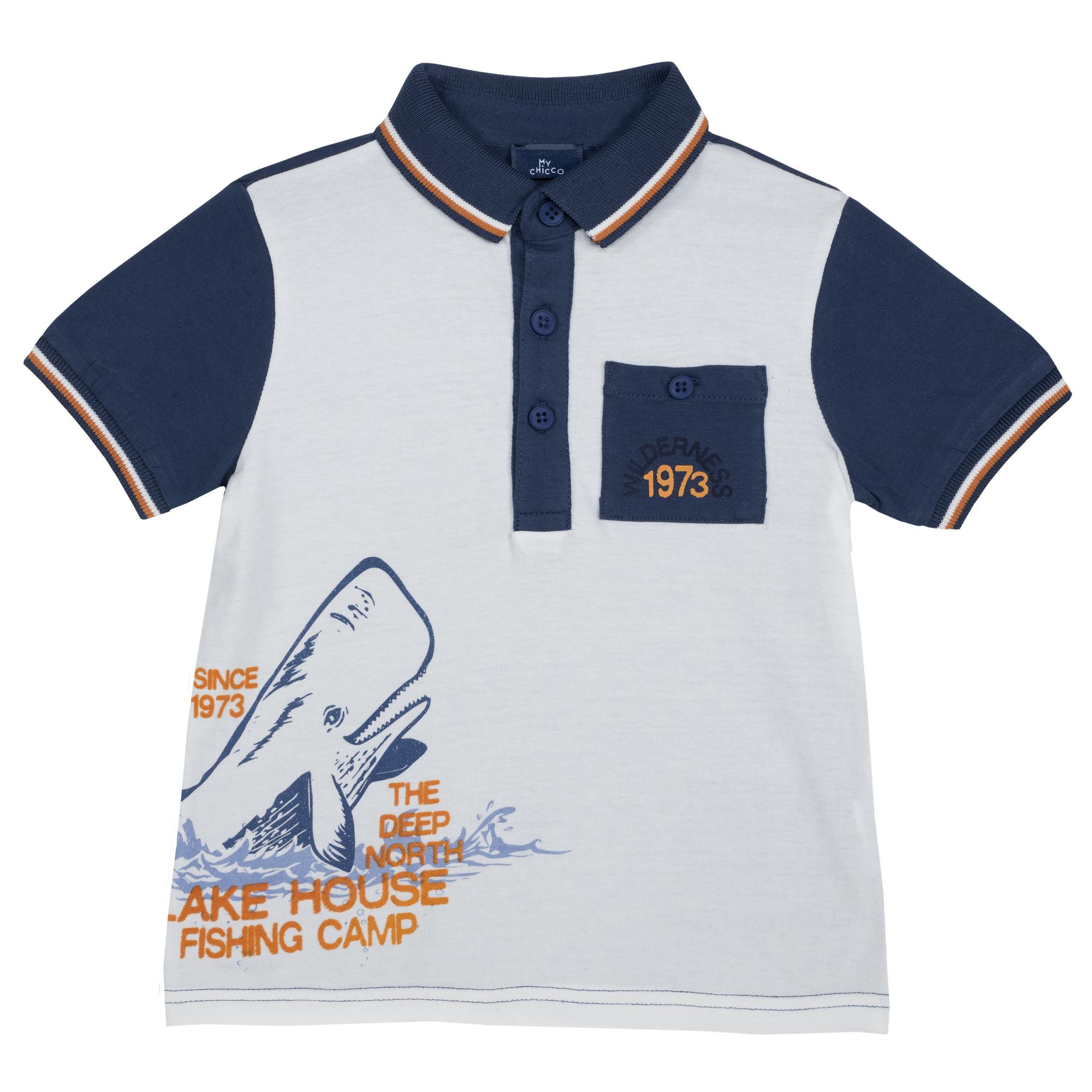 Tricou Polo Copii Chicco, Maneca Scurta, Albastru, 33499