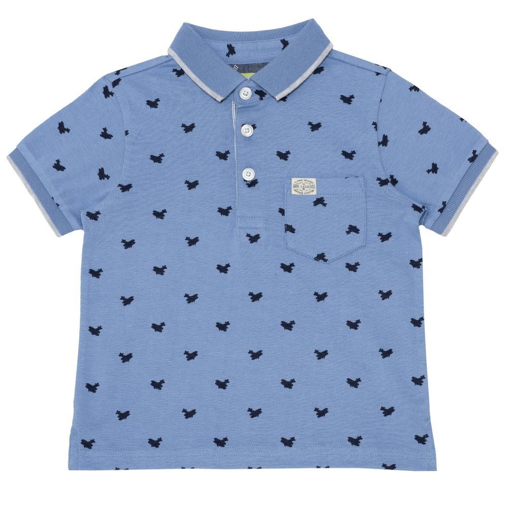 Tricou pentru copii Chicco, polo cu maneca scurta, albastru din categoria Tricouri copii