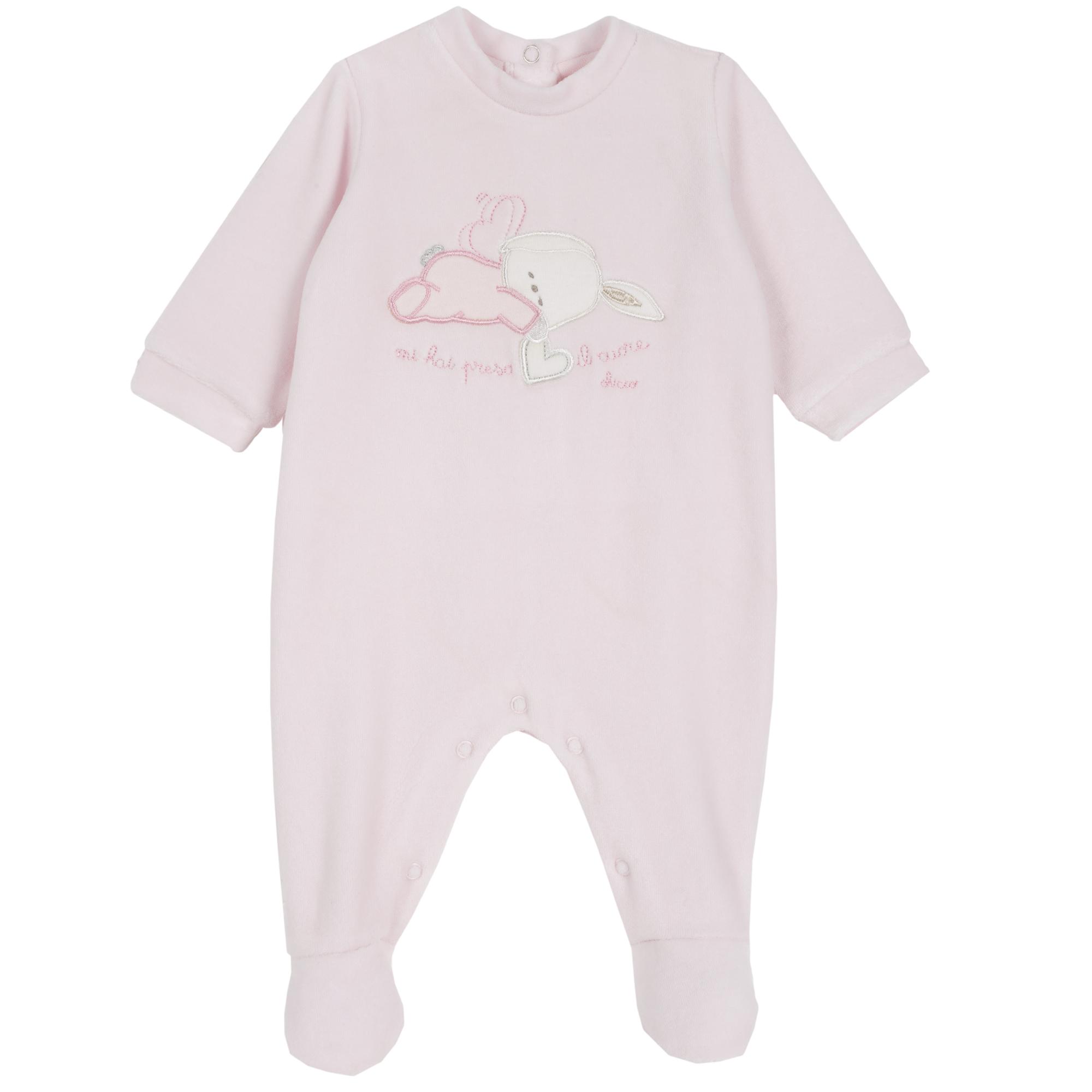 Trusou copii Chicco, salopeta + baveta + caciula, roz din categoria Salopete/Body