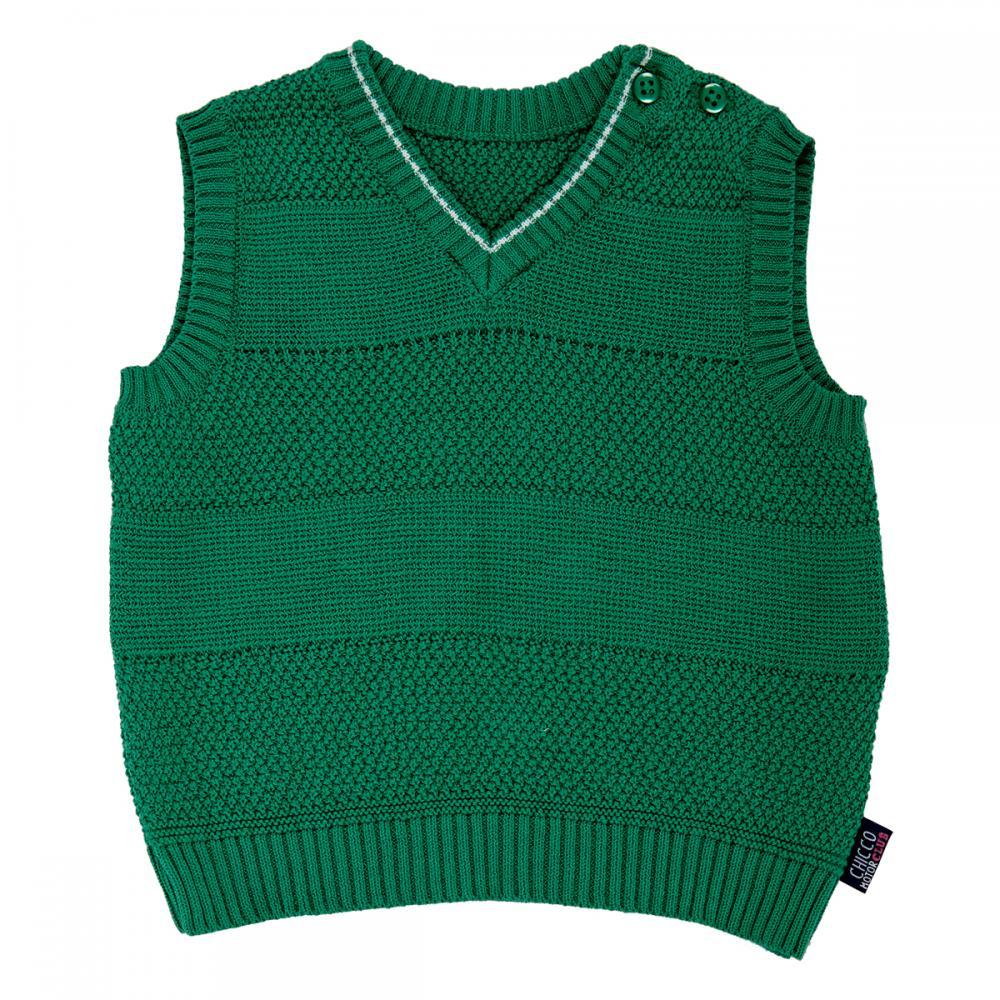 Vesta tricotata copii Chicco baieti verde 92