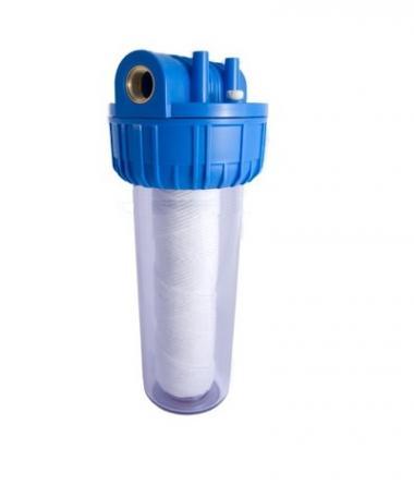 Filtru apa 10``cu filet de 1``1/4 si cartus filtrant din fir PP